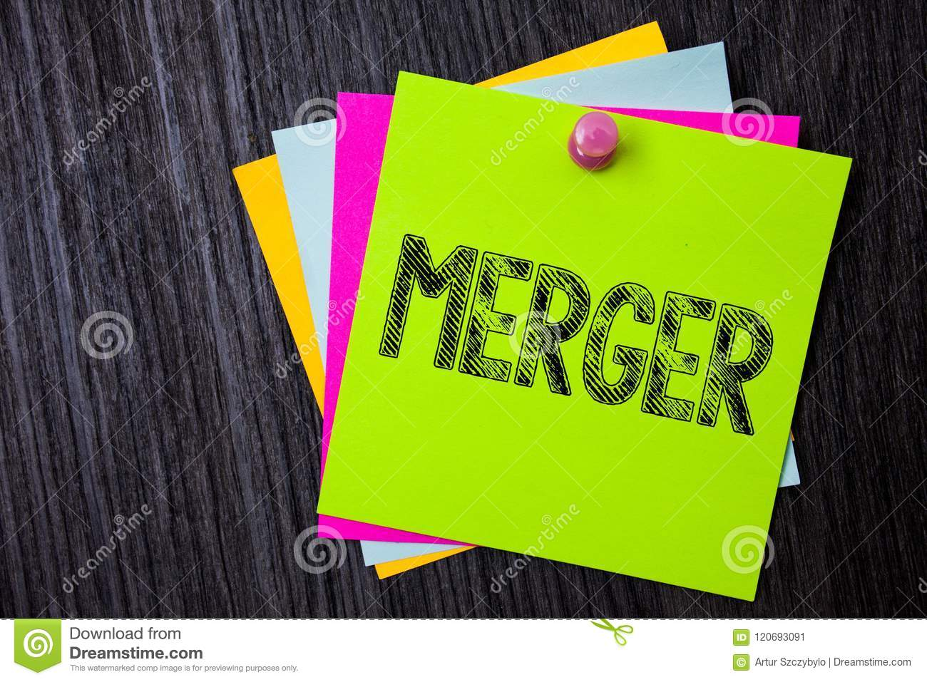 Word Writing Text Merger  Business Concept For Combination Of Two