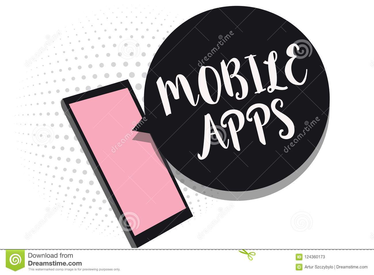 Word Writing Text Mobile Apps Business Concept For Small Programs