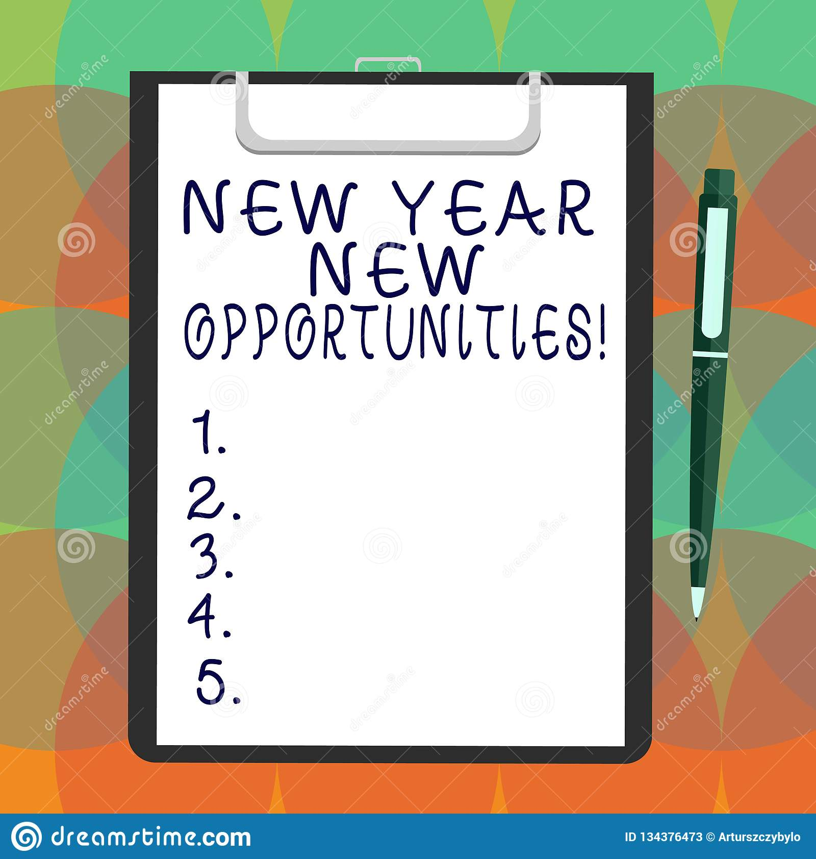 Word writing text New Year New Opportunities. Business concept for Fresh start Motivation inspiration 365 days Blank
