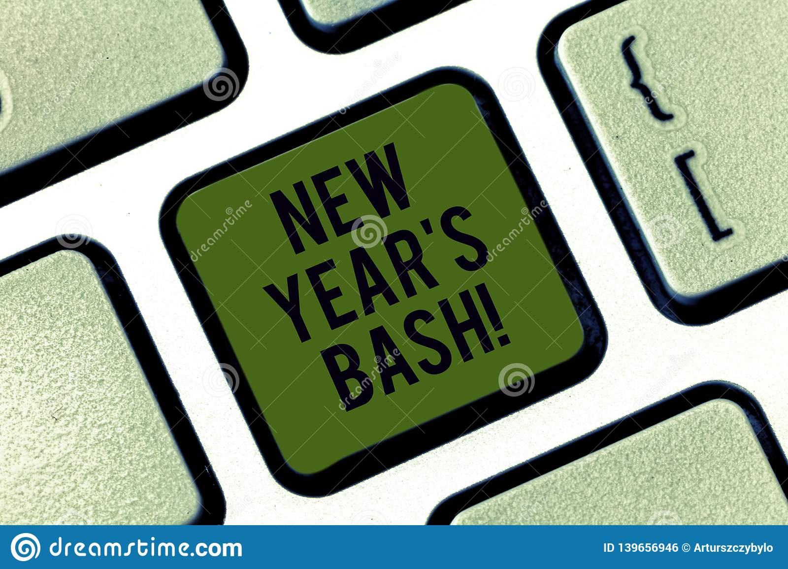 Word writing text New Year S Bash. Business concept for Celebration of the 365 days coming Happy party time Keyboard key