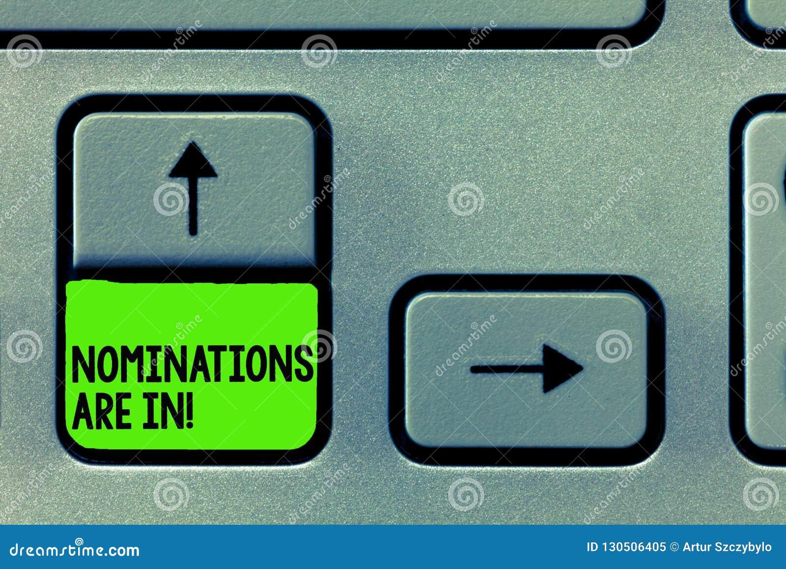 Writing company nominations