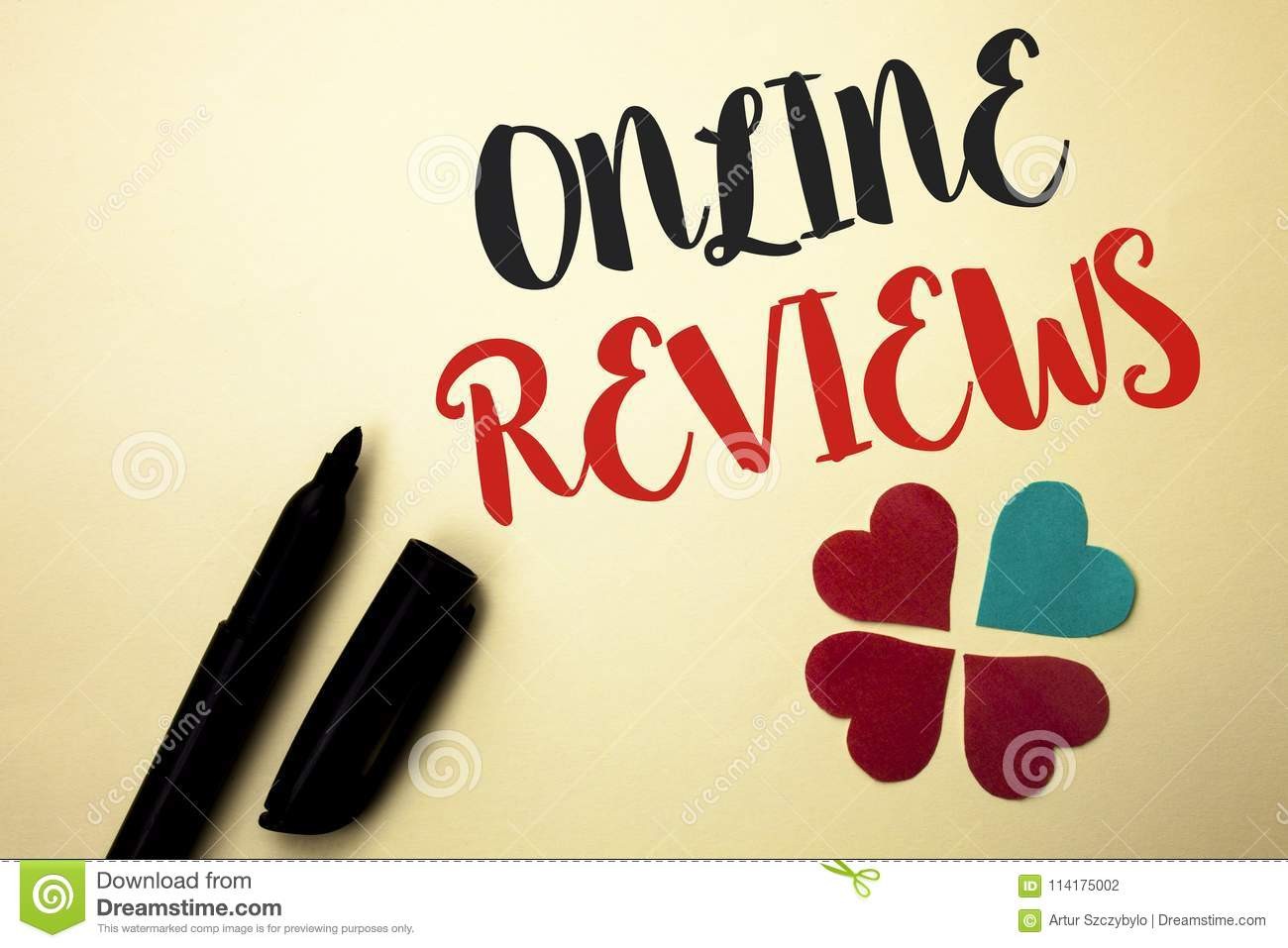 Word Writing Text Online Reviews  Business Concept For