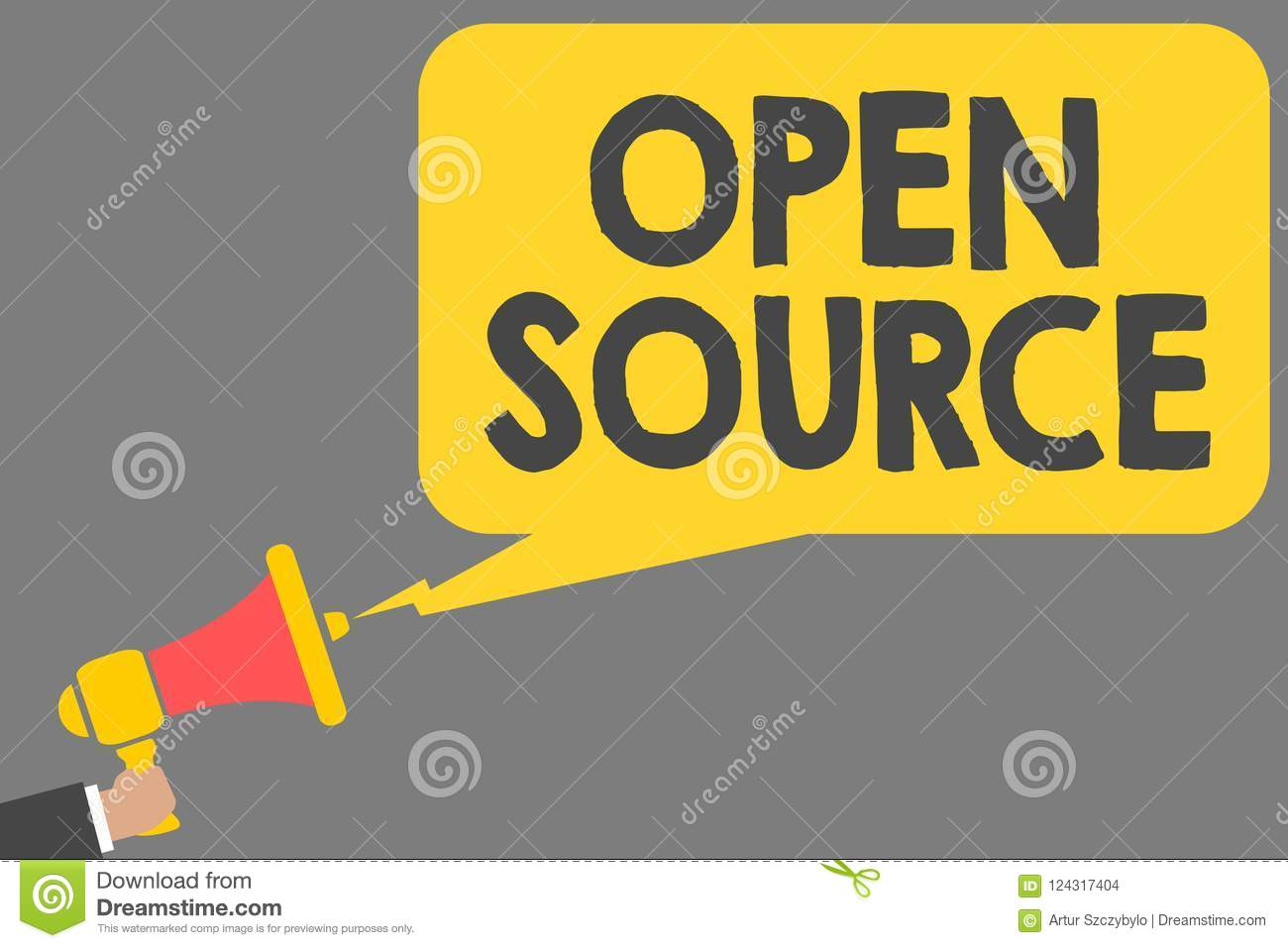 Word Writing Text Open Source  Business Concept For Denoting
