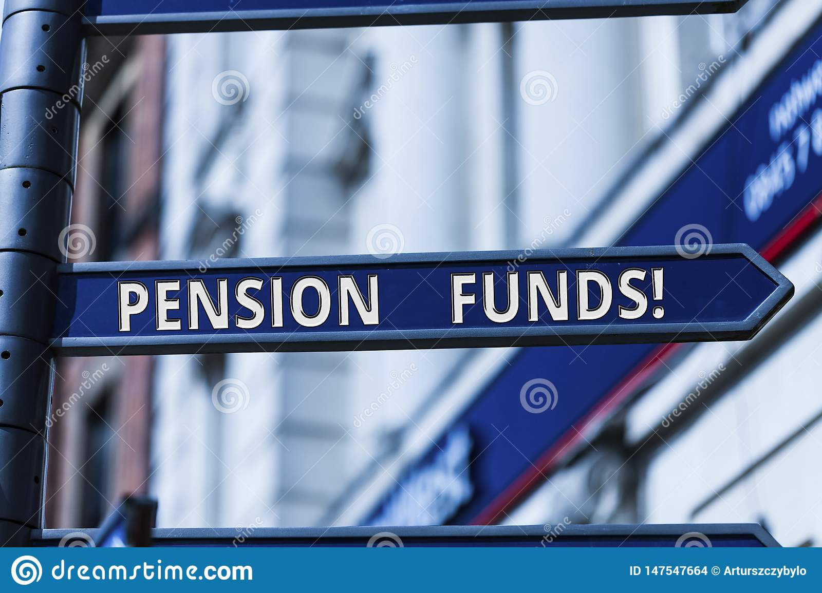Word writing text Pension Funds. Business concept for investment pools that pay for employee retirement commitments.