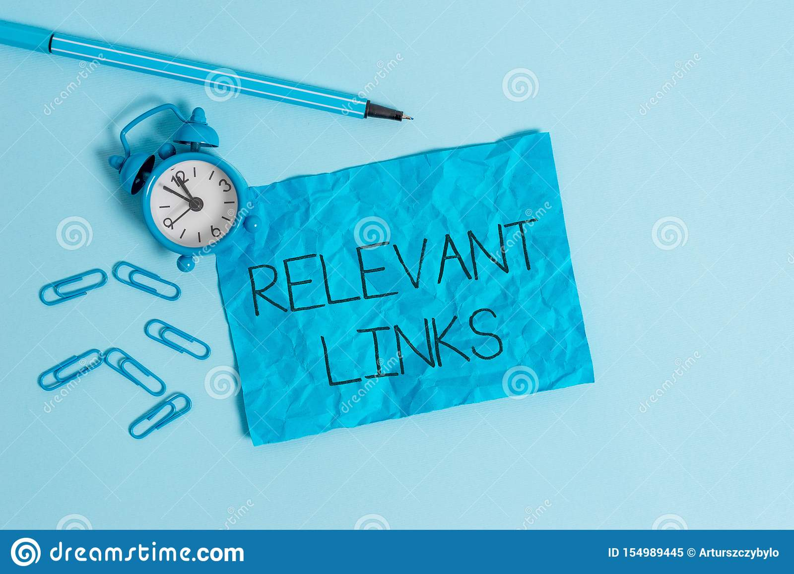 Word writing text Relevant Links. Business concept for Significant sites for a particular topic Associated Metal alarm
