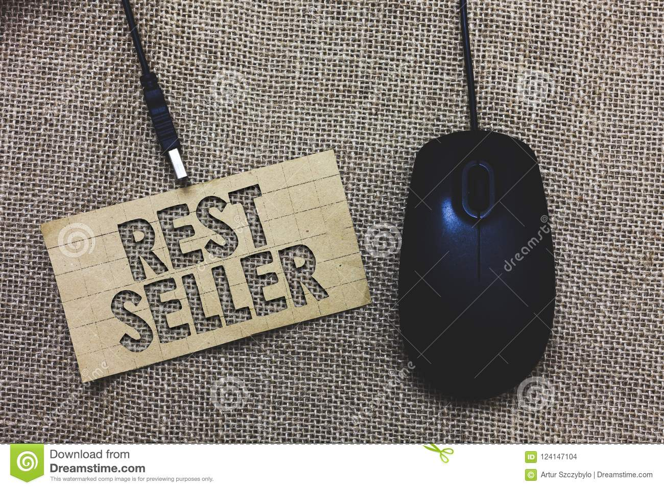 Word writing text Rest Seller. Business concept for one feature or the perceived benefit good which makes it unique Paperboard com