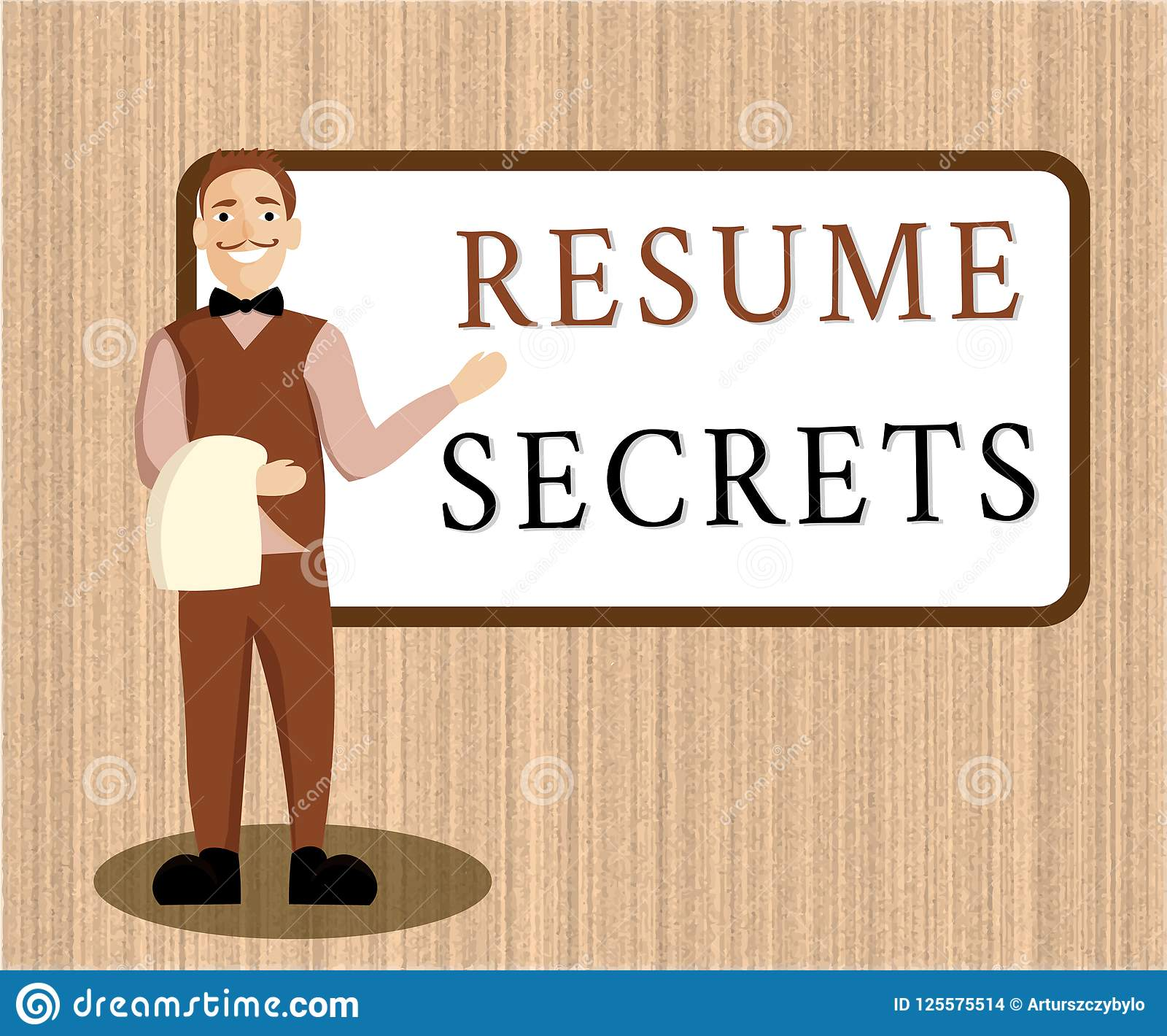 Word Writing Text Resume Secrets Business Concept For Tips