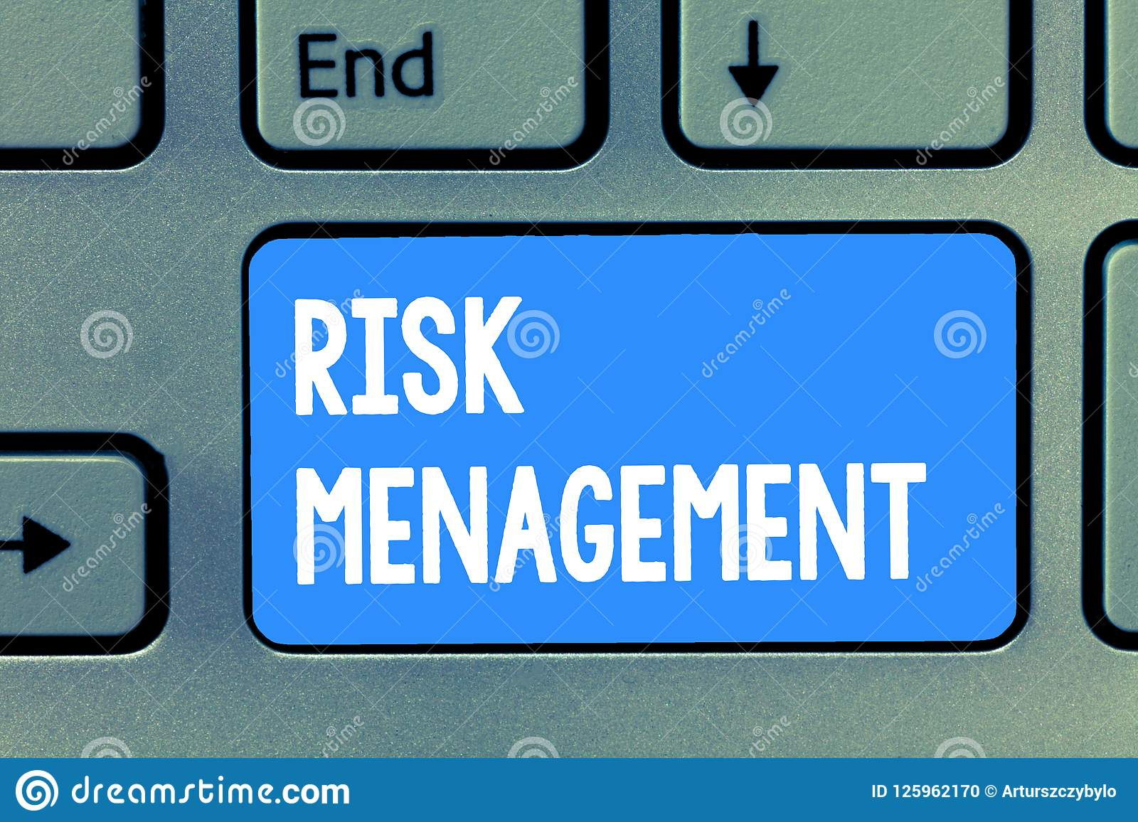 Word writing text Risk Management. Business concept for evaluation of financial hazards or problems with procedures