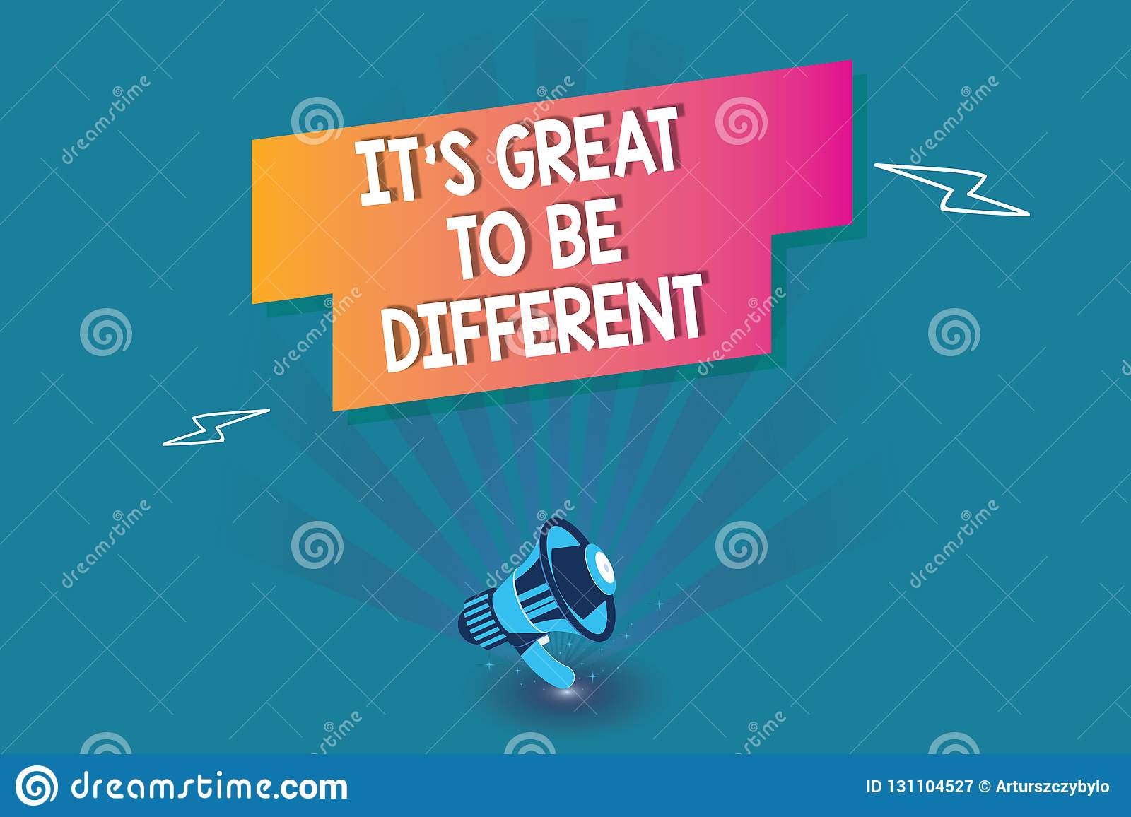 Word writing text It s is Great To Be Different. Business concept for Embrace your individuality and uniqueness