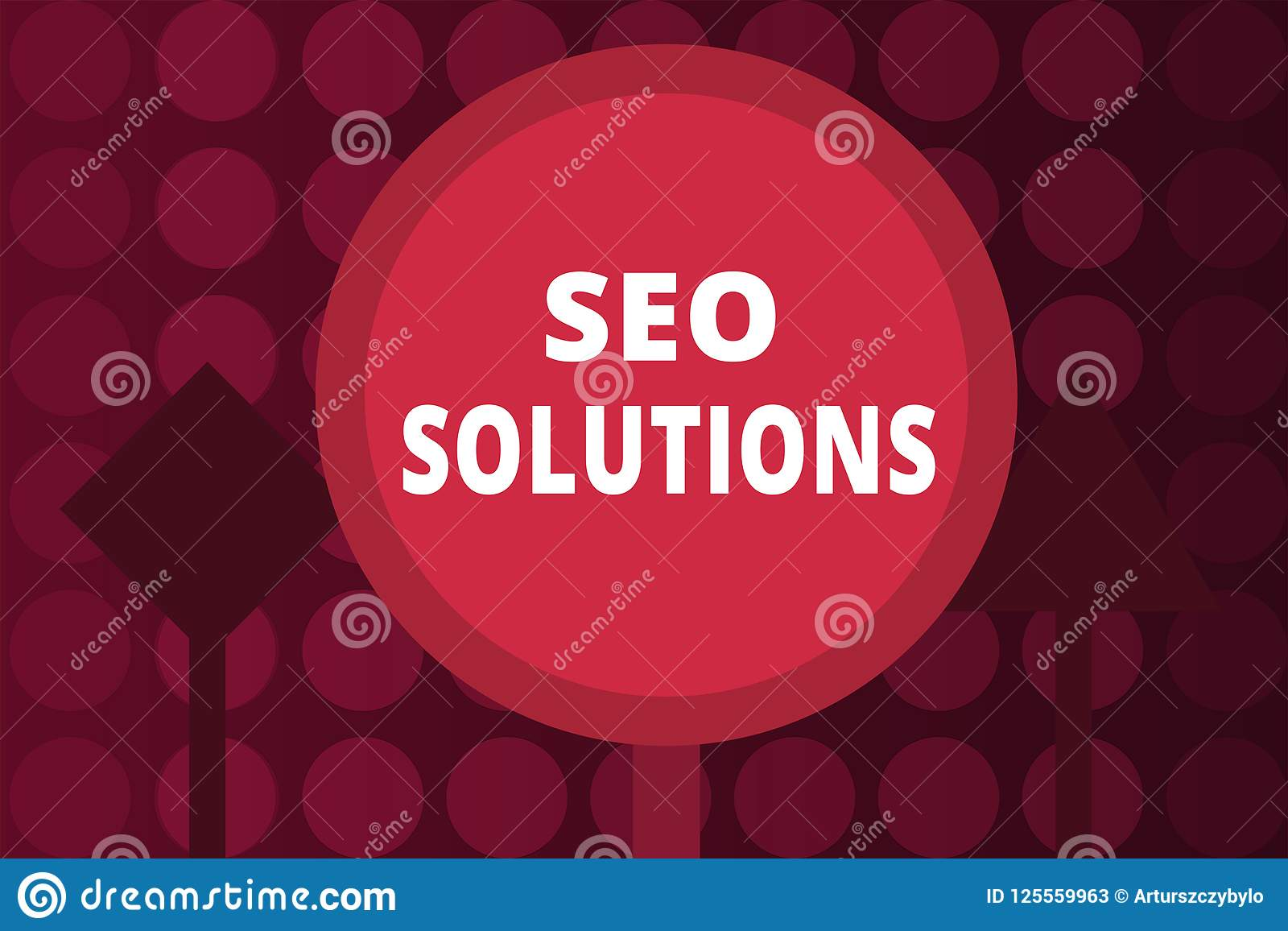 Word writing text Seo Solutions. Business concept for Search Engine Result Page Increase Visitors by Rankings