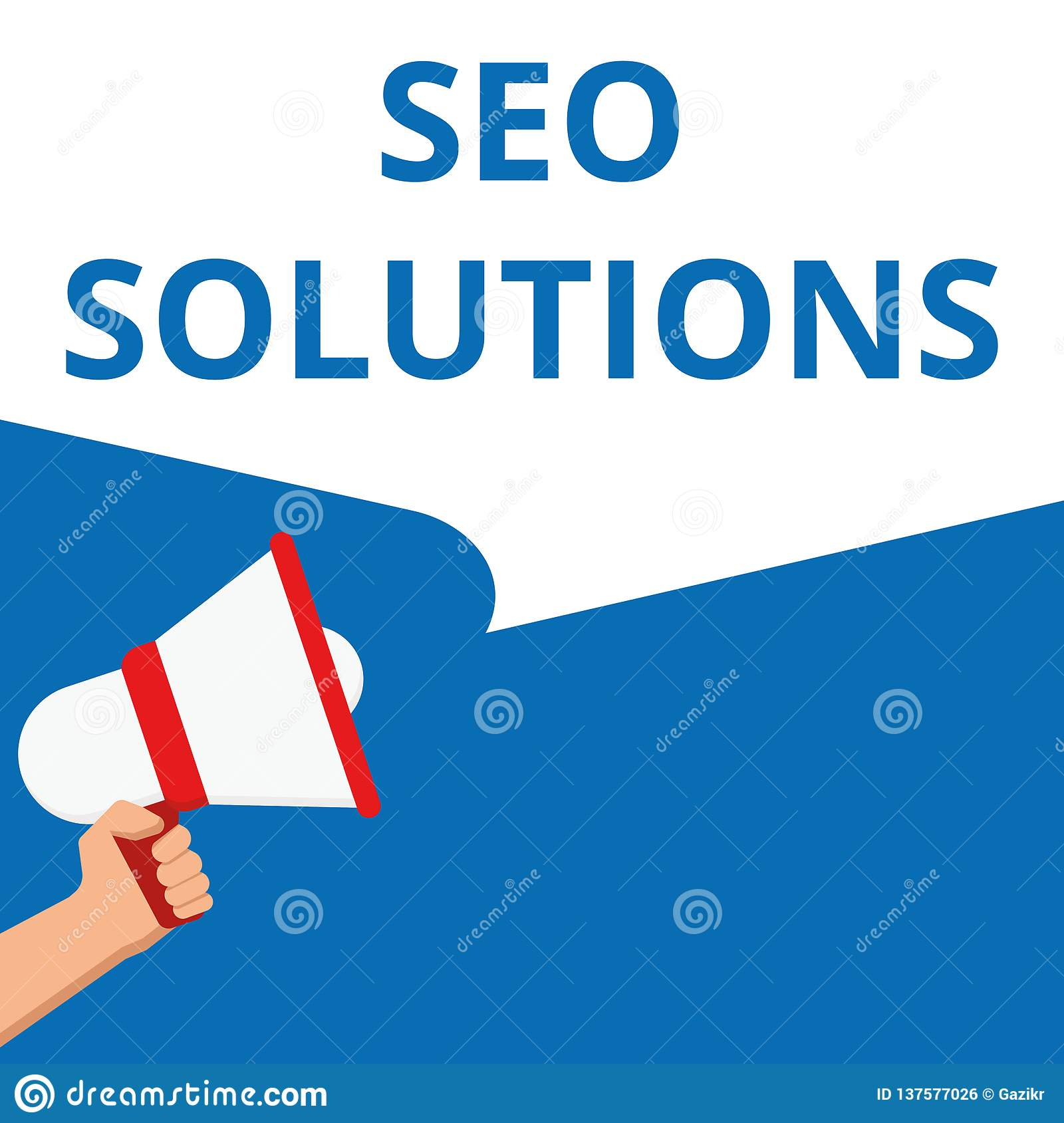 Word writing text Seo Solutions