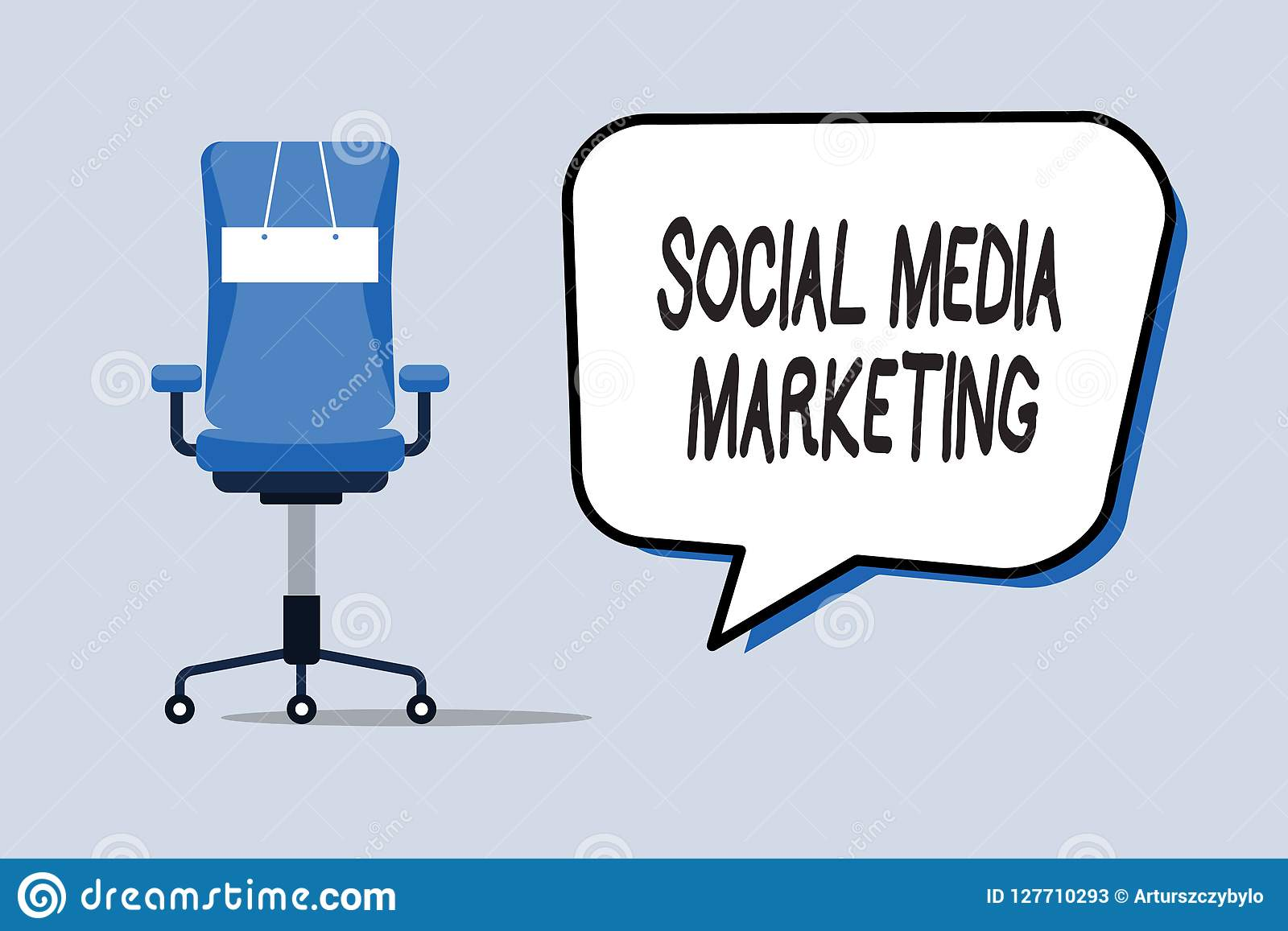 Word Writing Text Social Media Marketing  Business Concept For Use