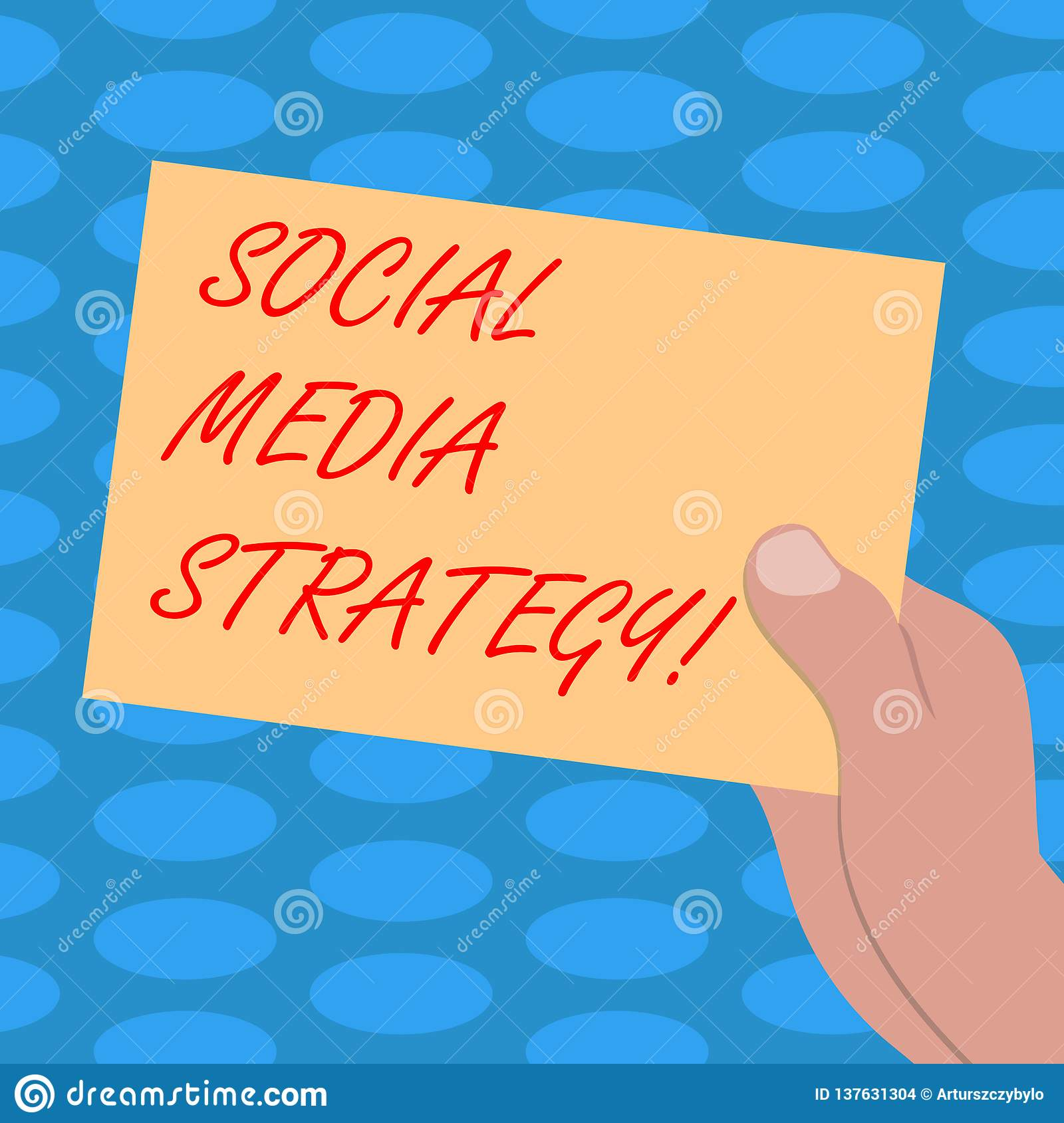 Word Writing Text Social Media Strategy. Business Concept