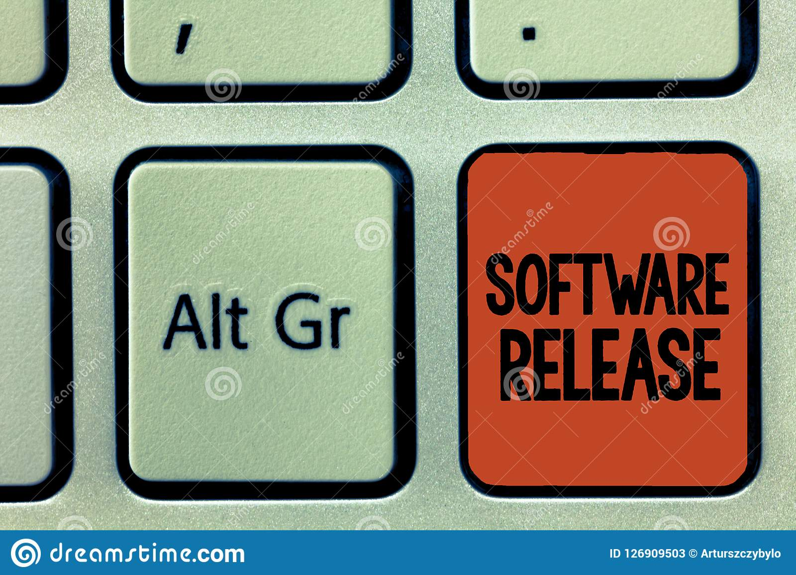 Word writing text Software Release. Business concept for sum of stages of development and maturity for program