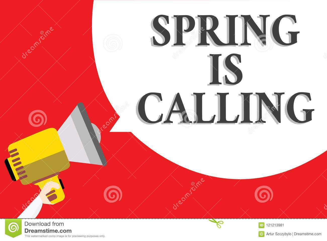 Word Writing Text Spring Is Calling  Business Concept For