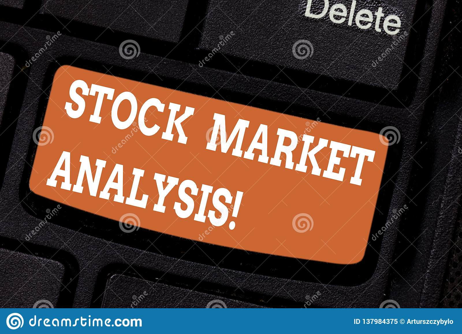Word Writing Text Stock Market Analysis  Business Concept
