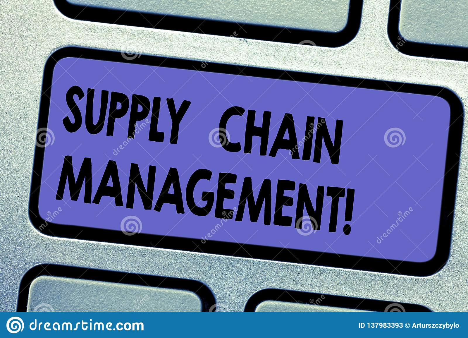 Word Writing Text Supply Chain Management  Business Concept