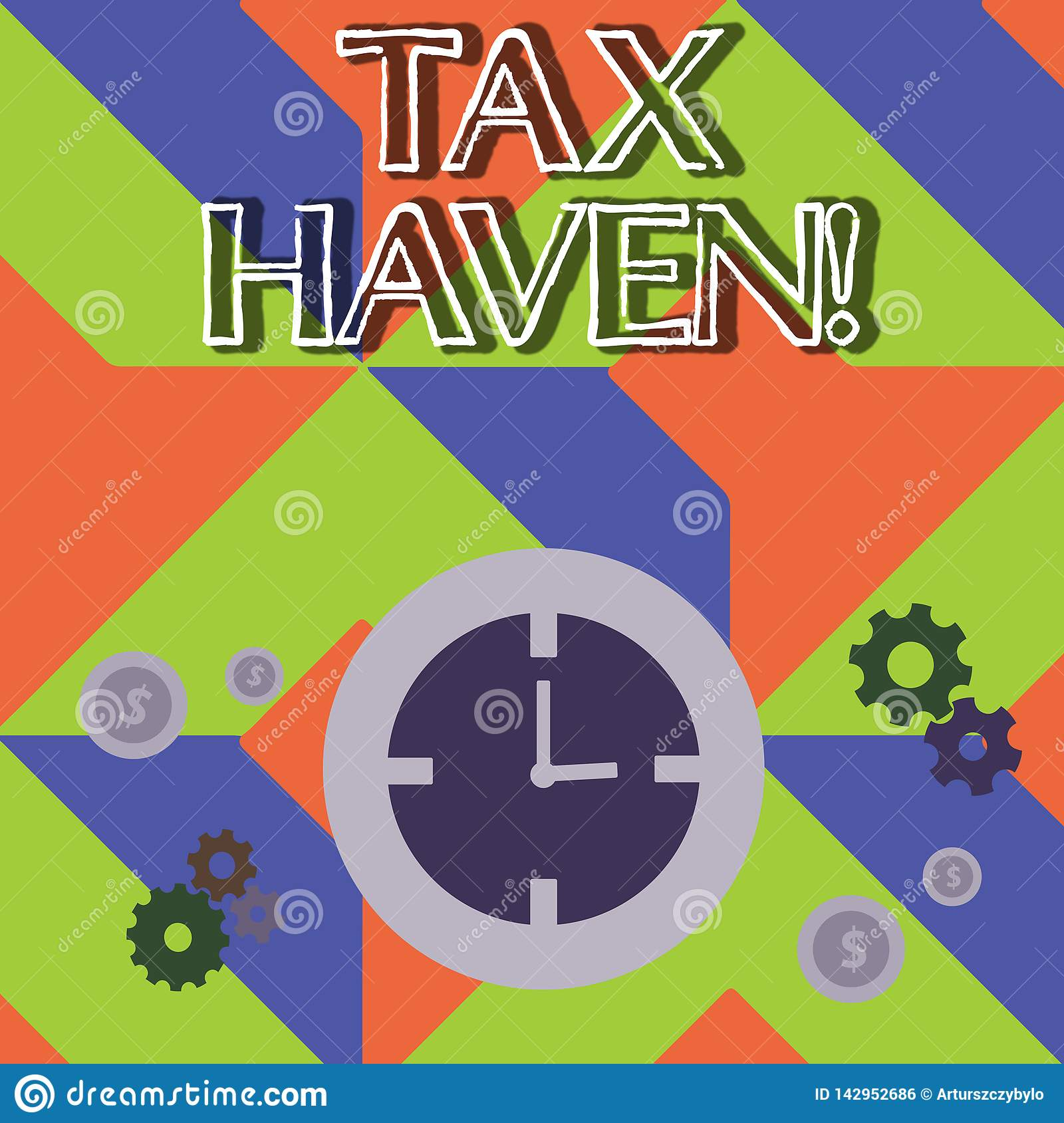 Word writing text Tax Haven. Business concept for country or independent area where taxes are levied at low rate Time