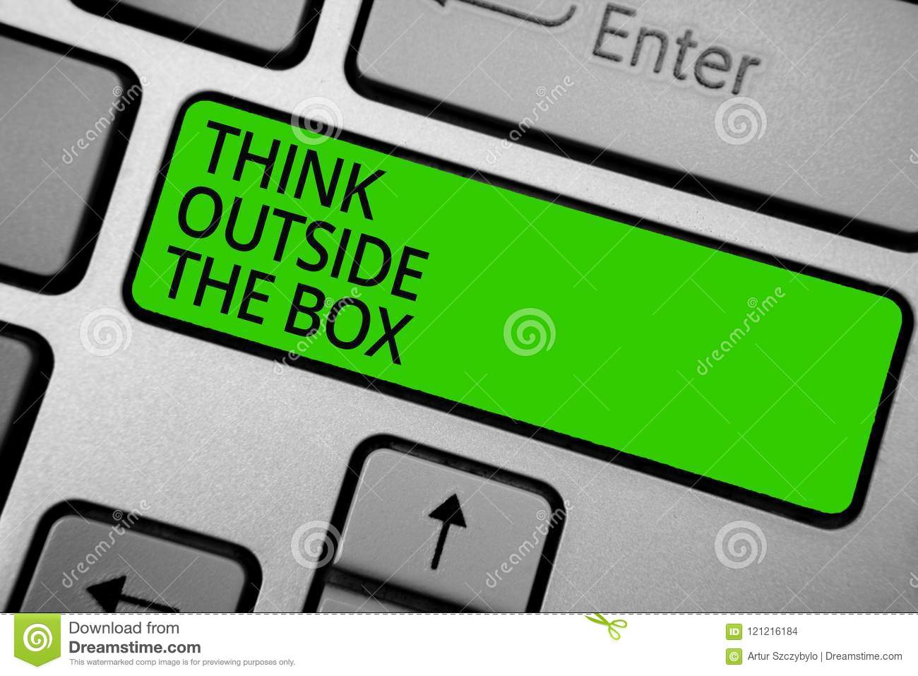 Word Writing Text Think Outside The Box Business Concept For Be