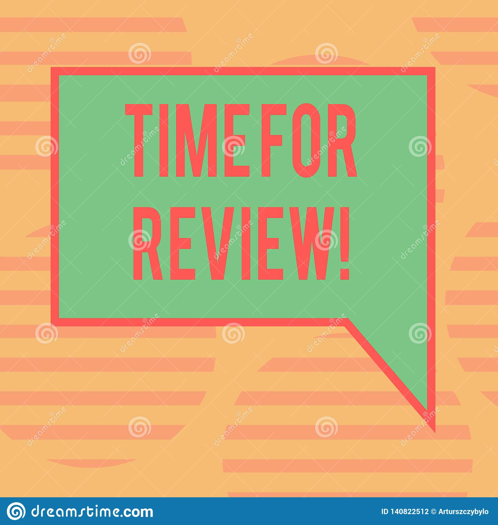 Word writing text Time For Review. Business concept for Evaluation Feedback Moment Perforanalysisce Rate Assess Blank Rectangular