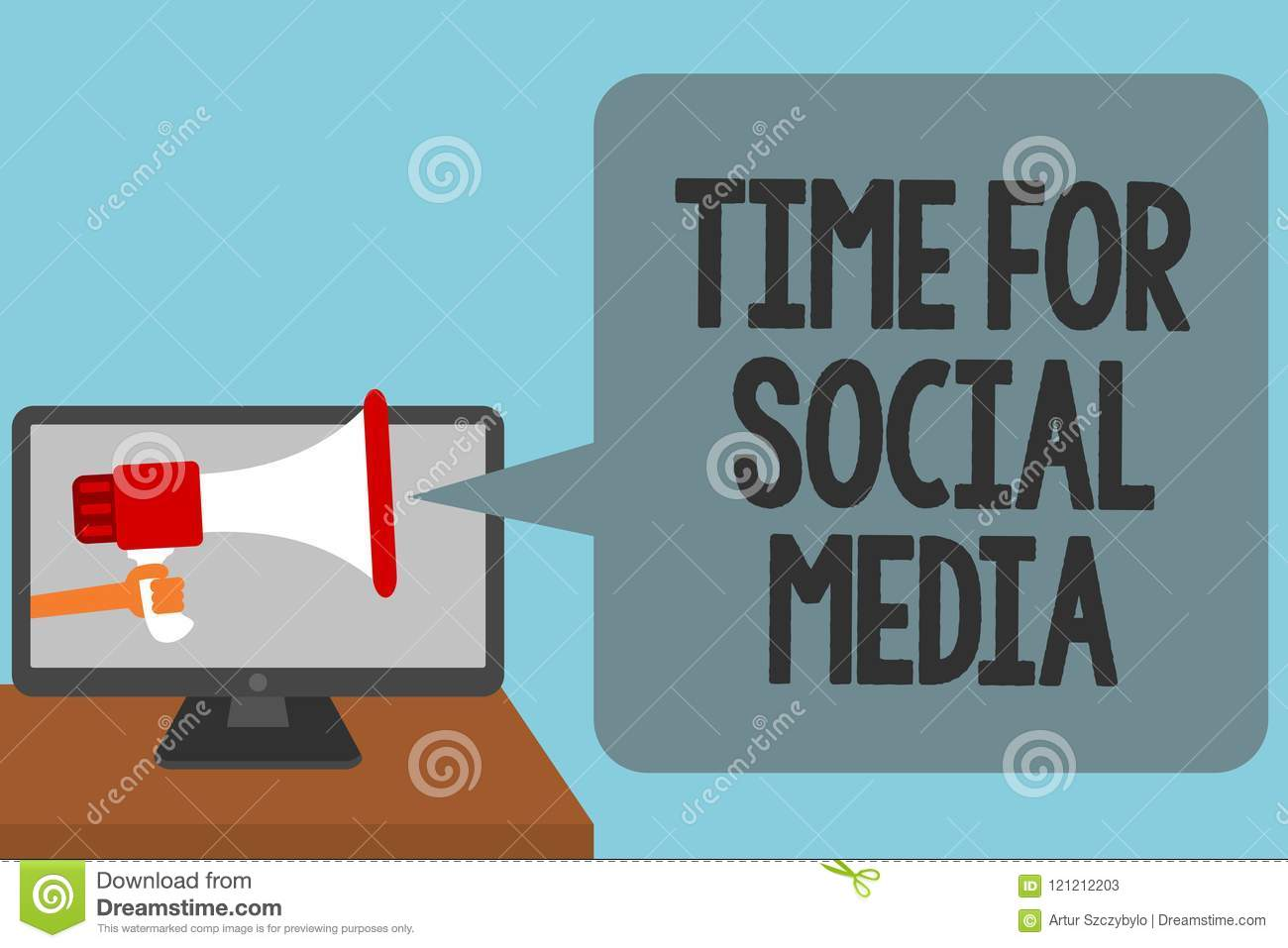 Word Writing Text Time For Social Media  Business Concept