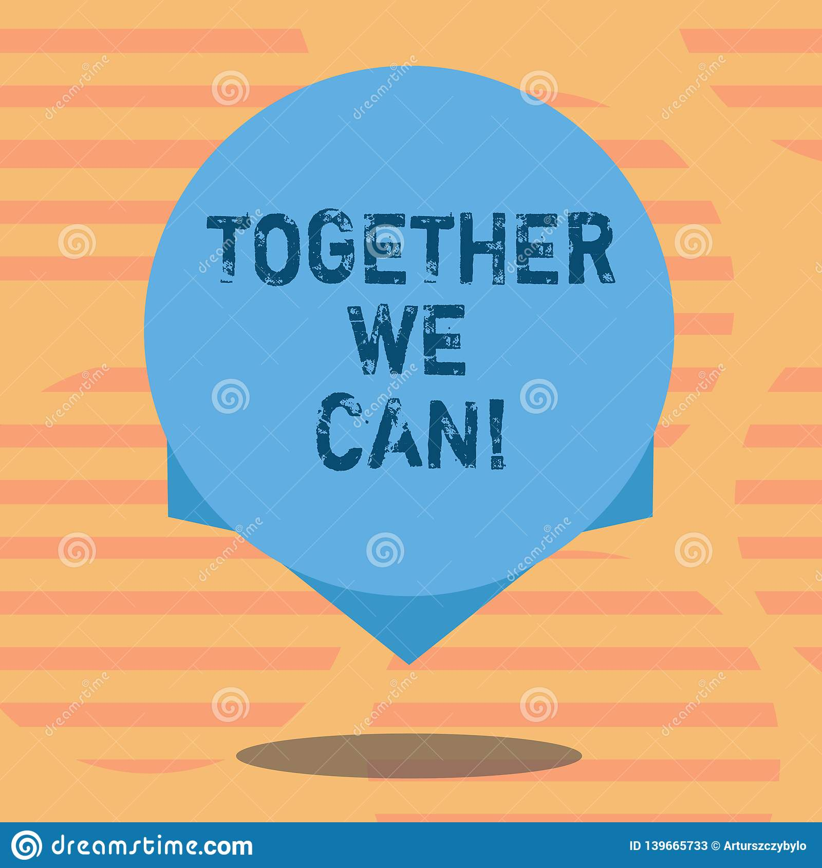 Word writing text Together We Can. Business concept for Unity can makes everything possible One powerful group Blank