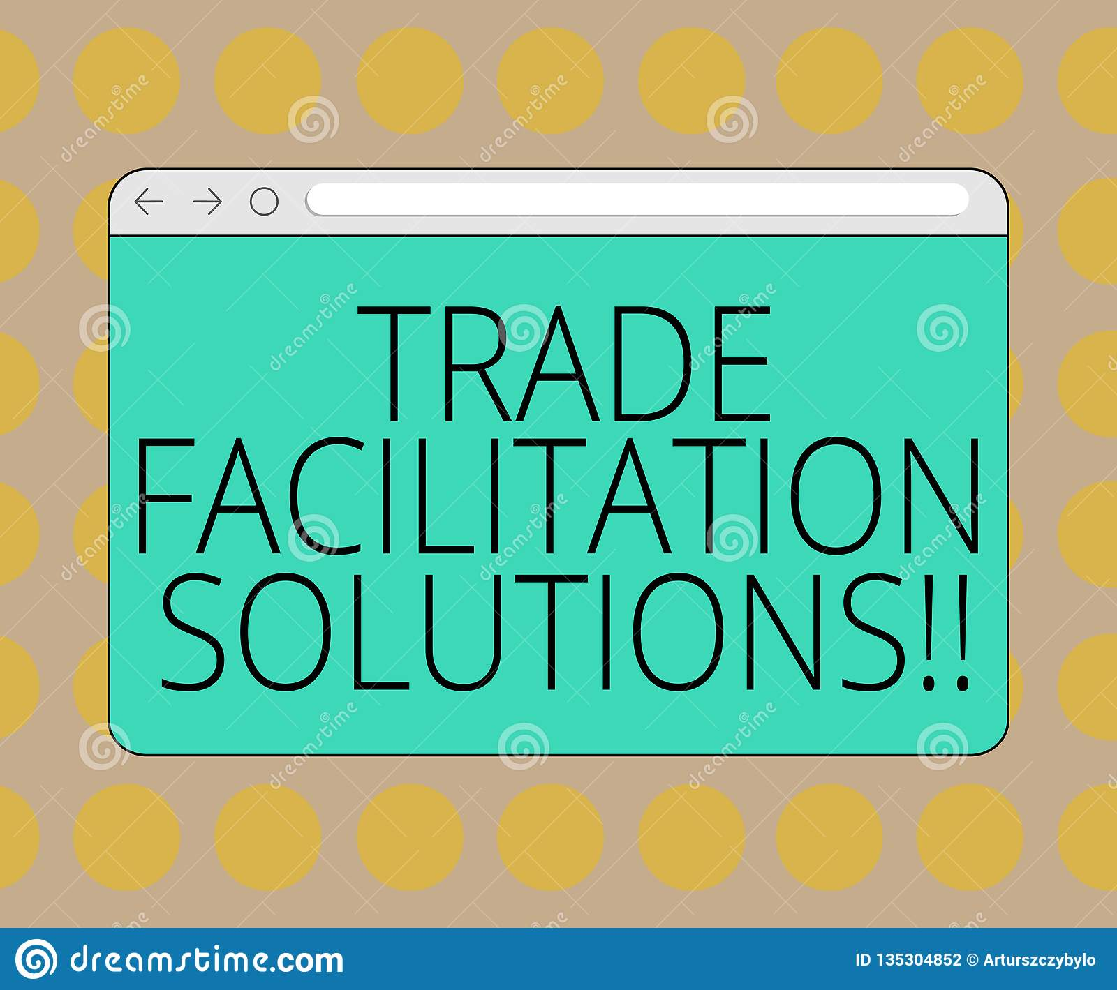 Word Writing Text Trade Facilitation Solutions  Business