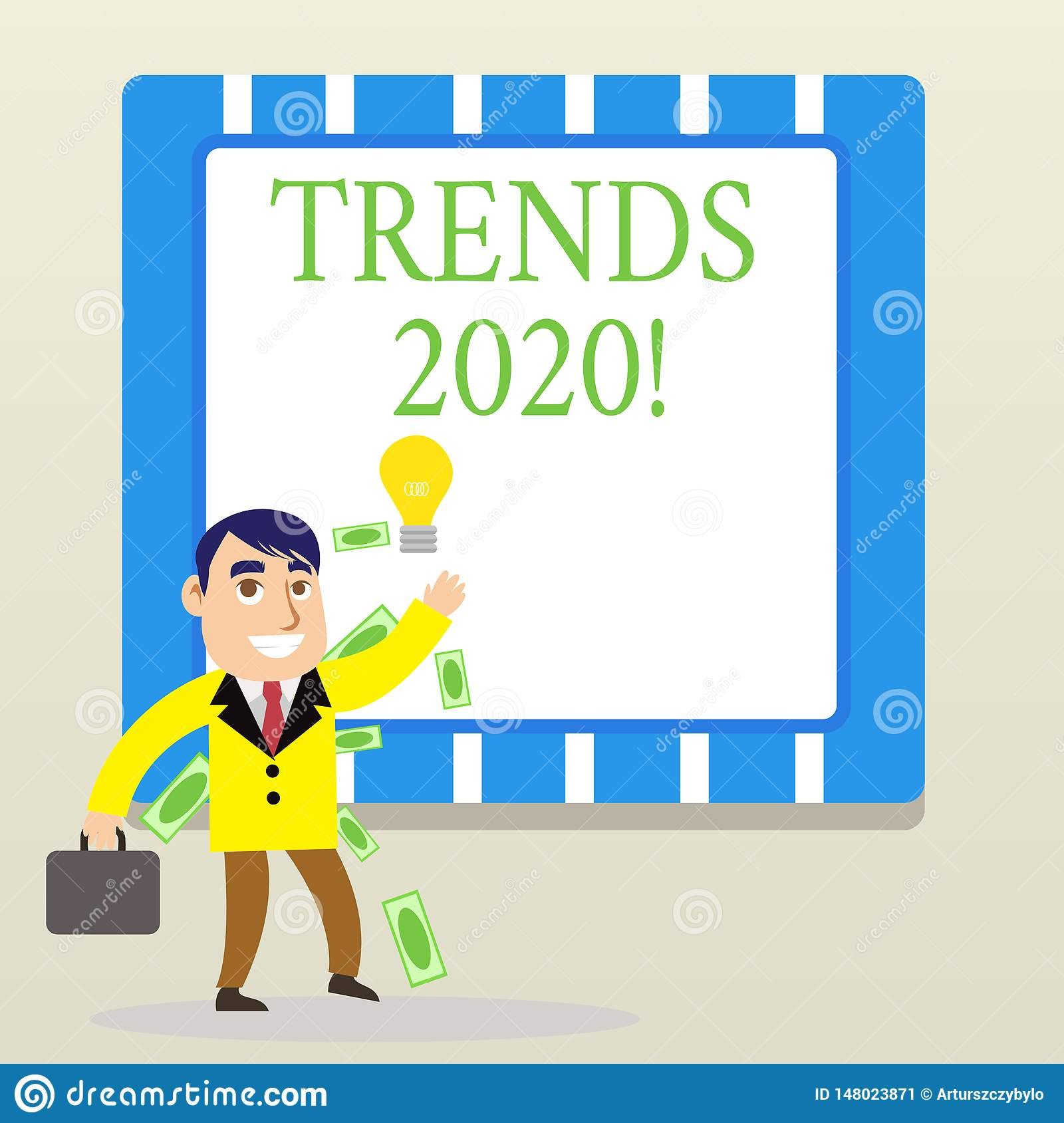 Word Writing Text Trends 2020  Business Concept For General