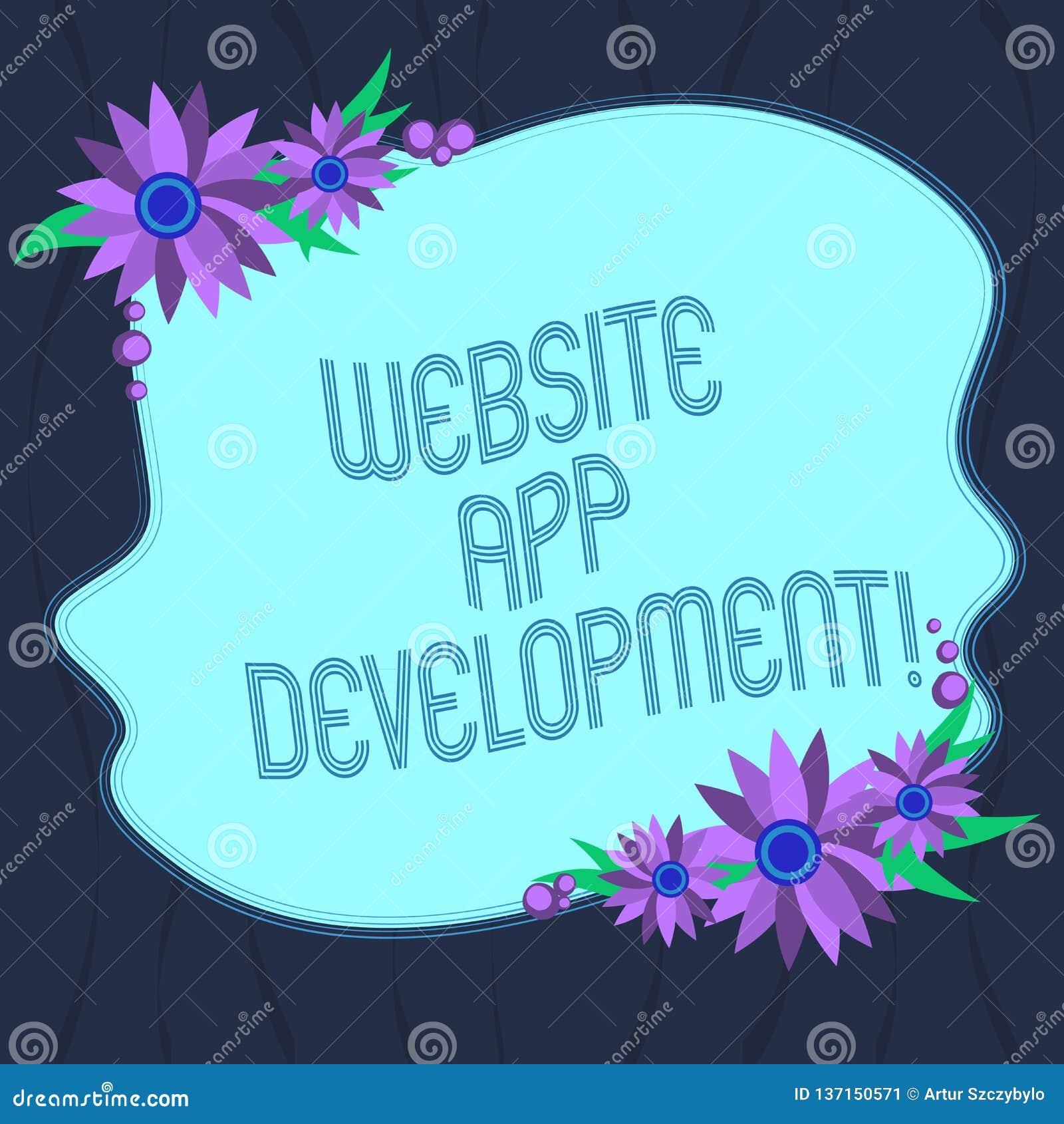 Word Writing Text Website App Development Business Concept