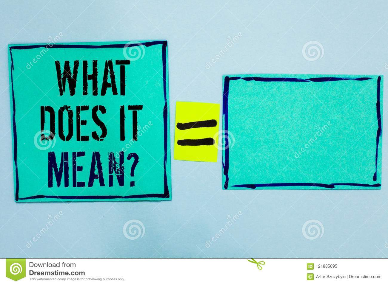 Word Writing Text What Does It Mean Question  Business