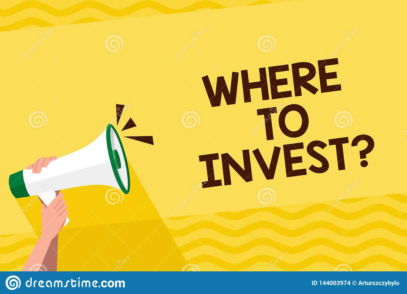 a357005974e81 Word Writing Text Where To Invest Question. Business Concept For Put ...