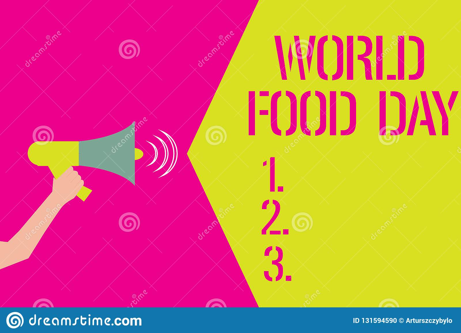 word writing text world food day business concept for world day of