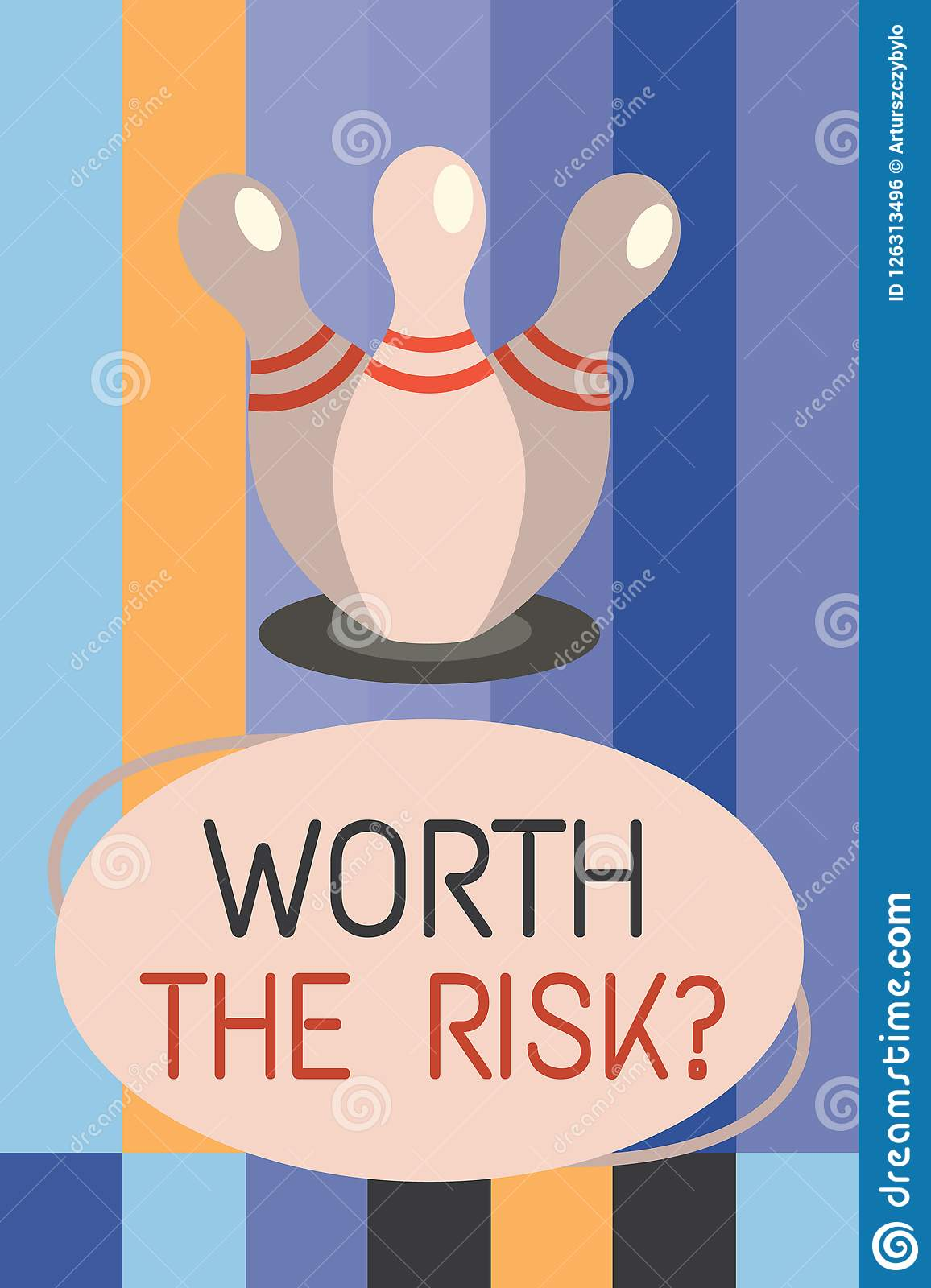 word writing text worth the risk question business concept for