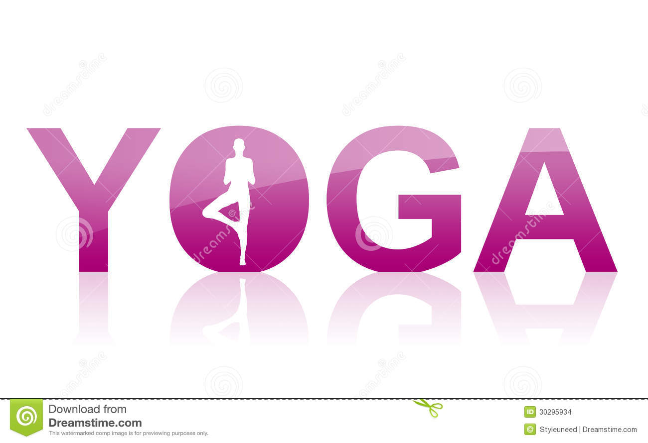 Stock Images Word Yoga Spelled Letters Figure Tree Pose Icon Symbol Isolated Illustration Image30295934 on Letter U Video Download
