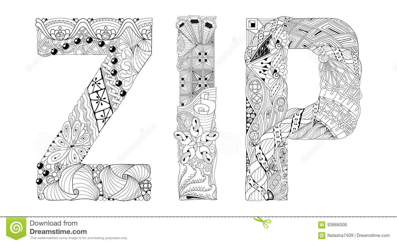 Coloring book download zip - Royalty Free Vector Download Word Zip For Coloring