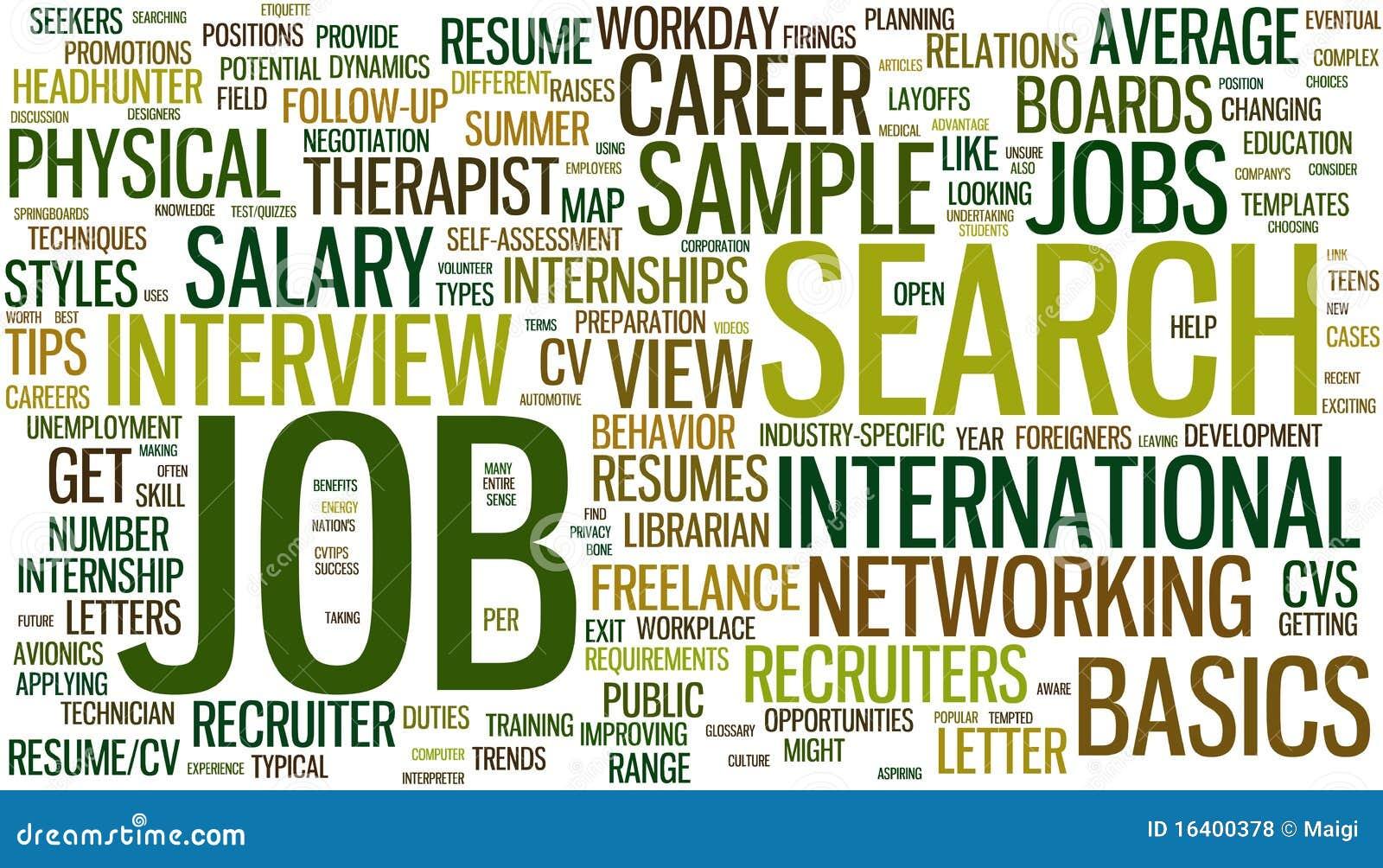 Wordcloud de la búsqueda de trabajo