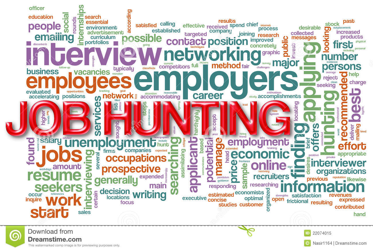 wordcloud of job hunting royalty stock photo image  wordcloud of job hunting
