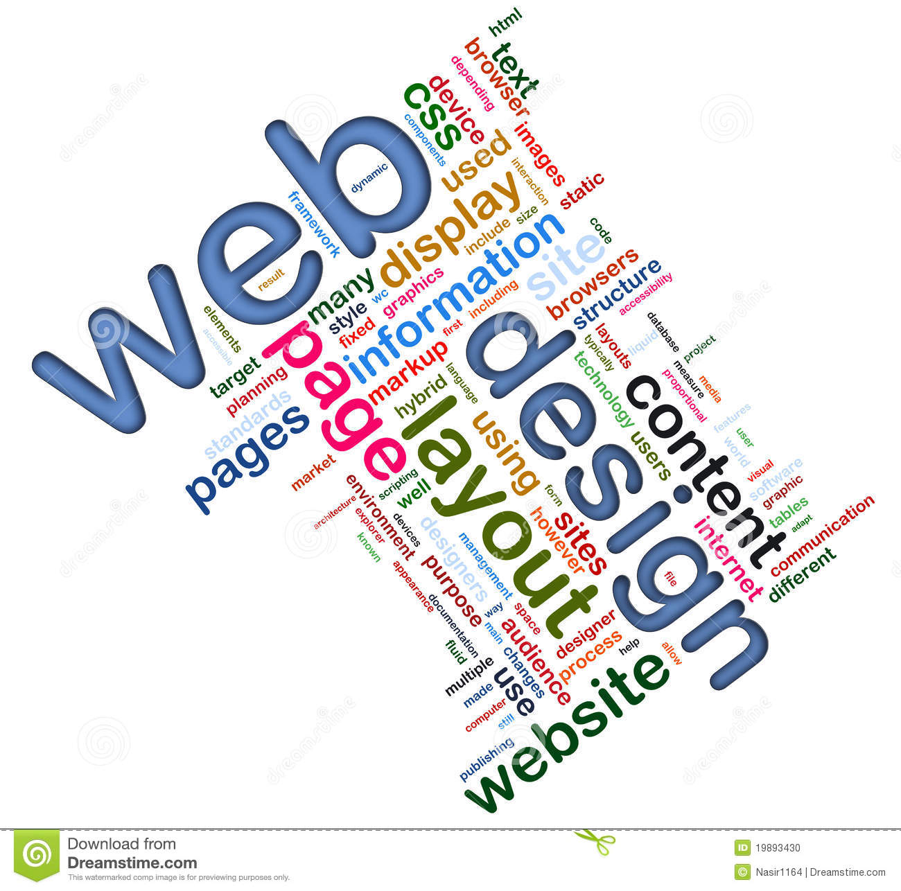 Wordcloud Of Web Design Stock Photo Illustration Of