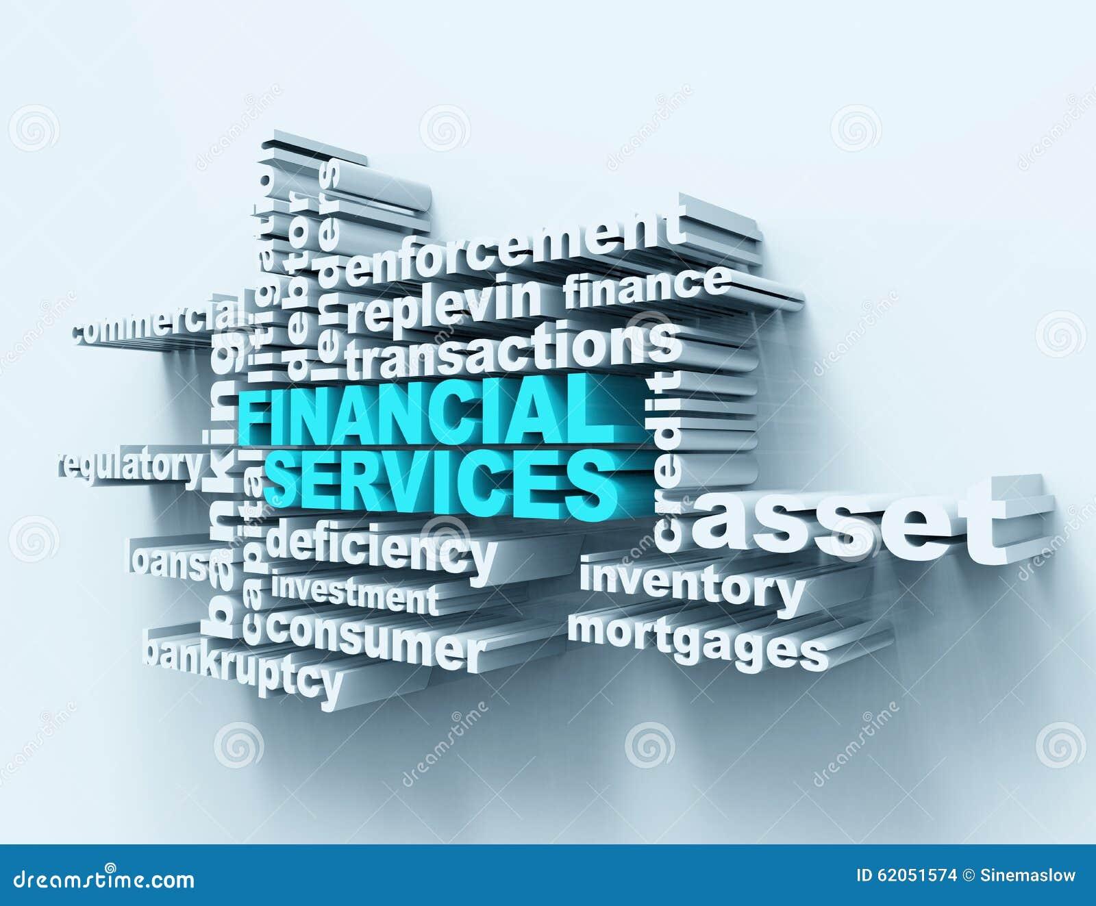 Wordclouds de services financiers illustration stock for Domon services financiers