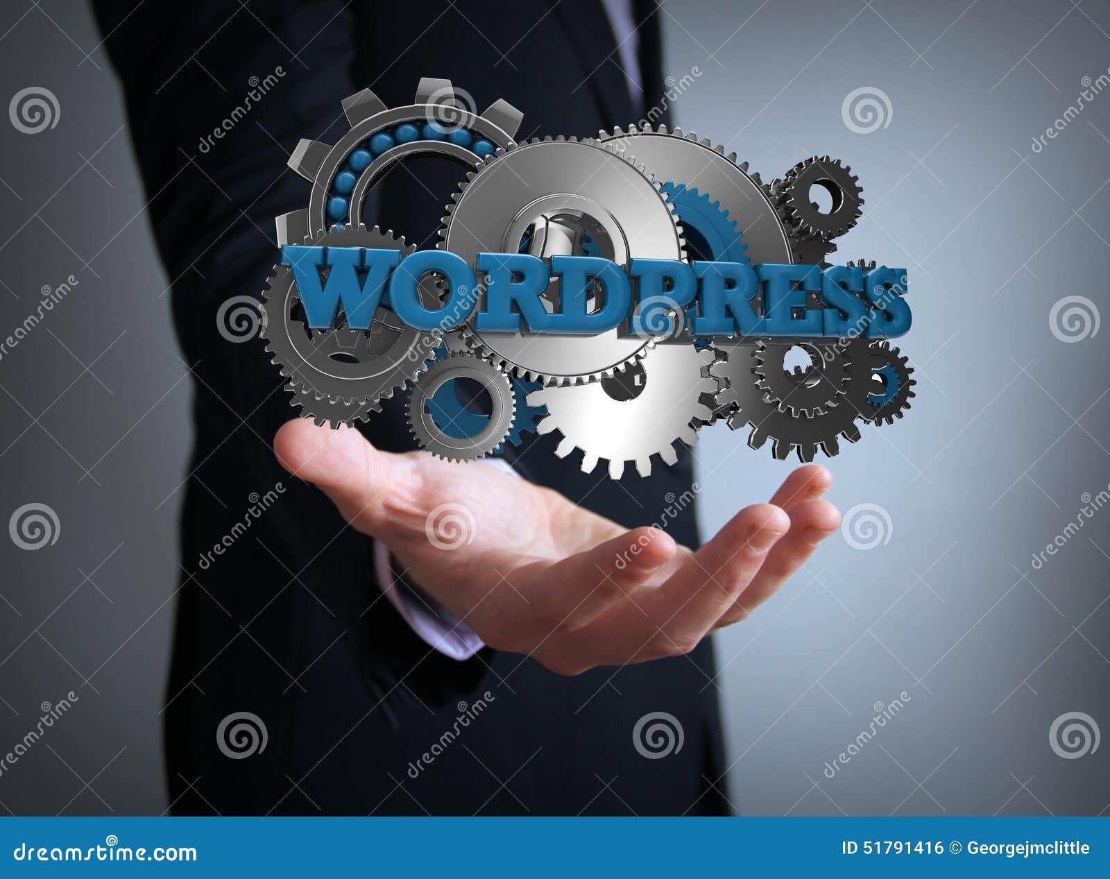 Wordpress übersetzt Geschäftsmann