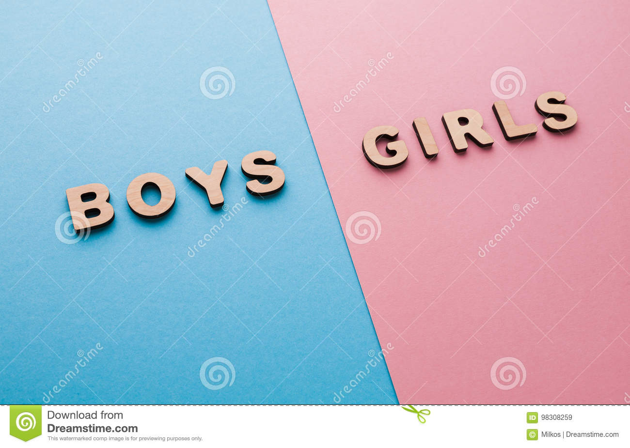 Words Boys And Girls On Bright Backgrounds Stock Image - Image of ...