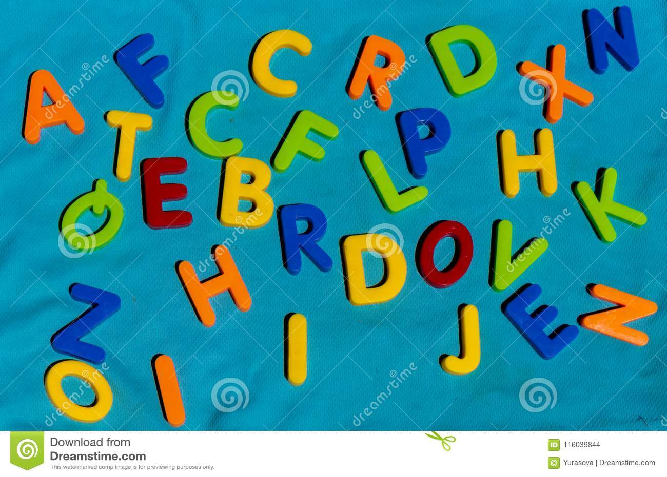 Colorful Toy Letters Alphabet In Mess Stock Photo - Image of