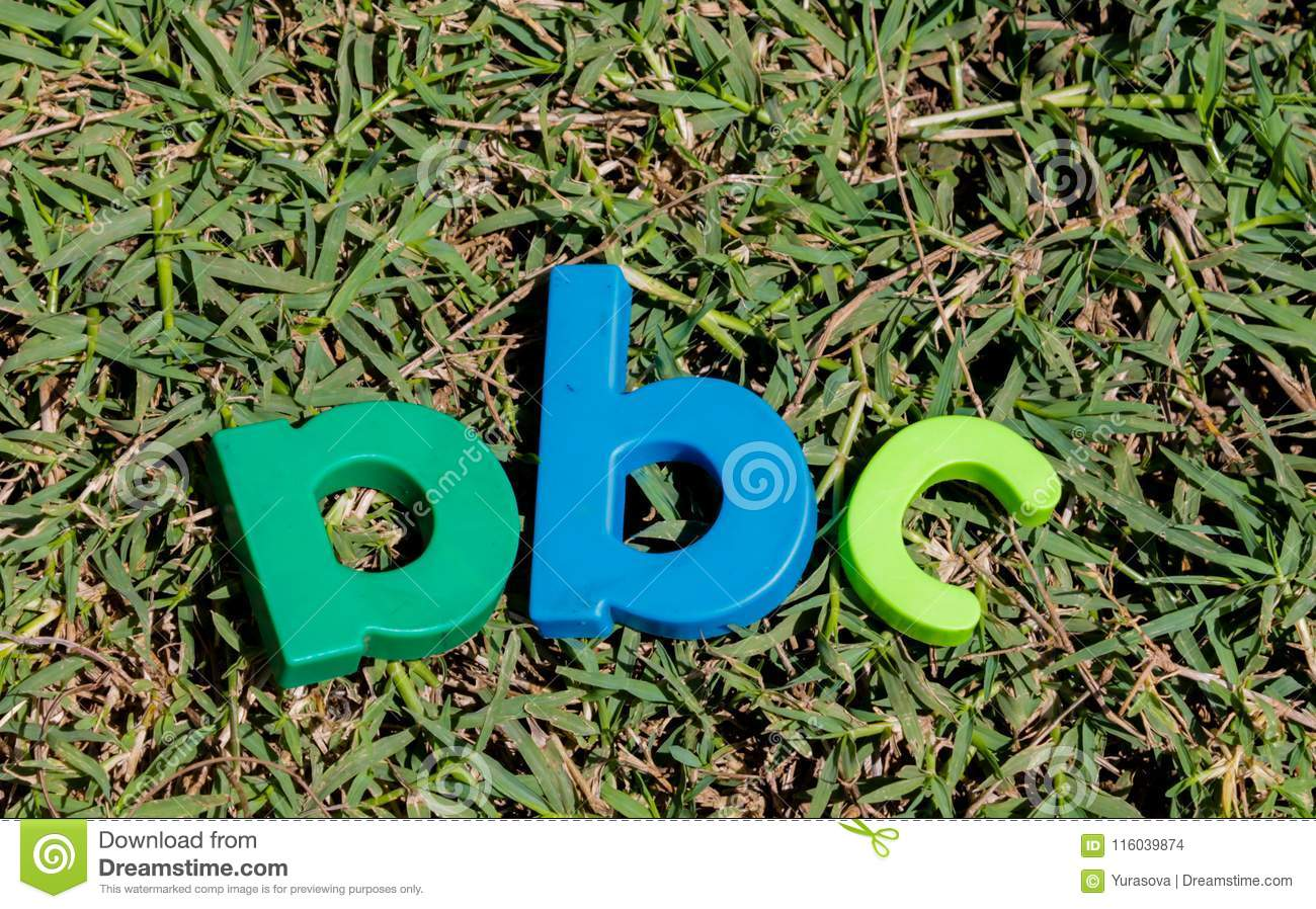 Colorful Toy Letters Alphabet In Order ABC Stock Photo