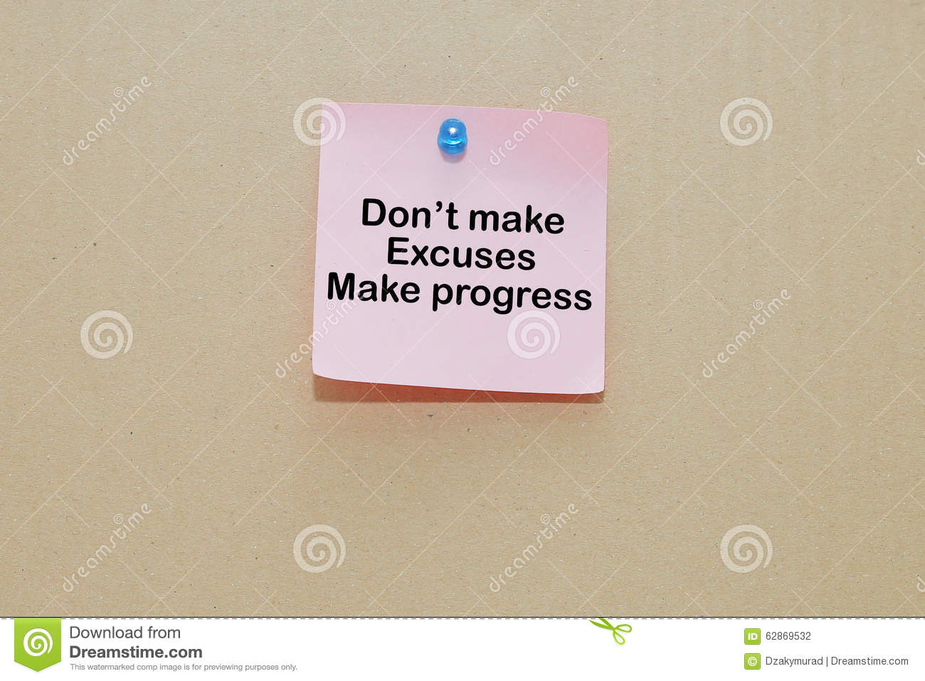 words of don u0027t make excuses make progress on sticky color papers