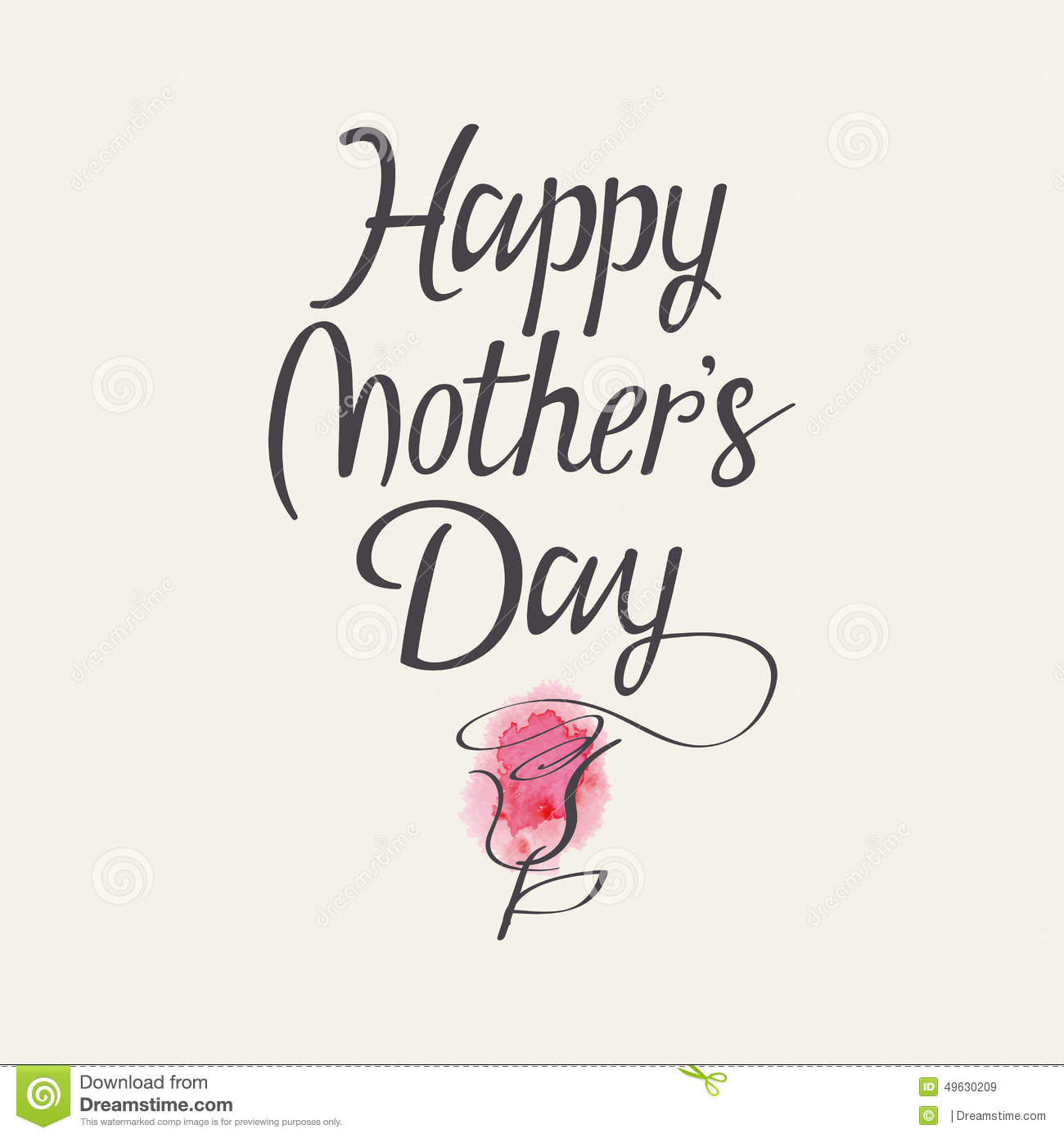 The Words Happy Mother S Day Stock Vector Image 49630209