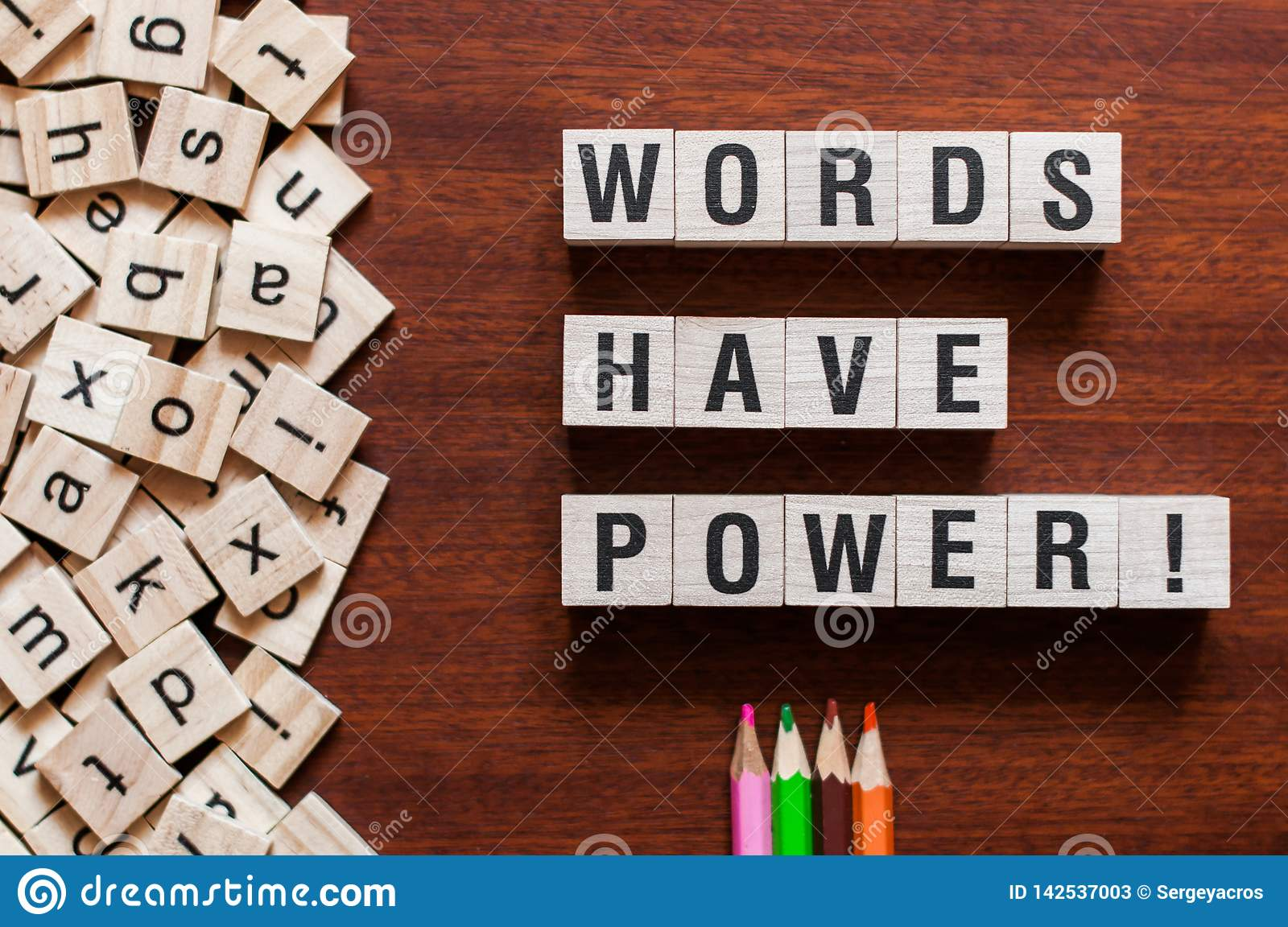 Words Have Power word concept