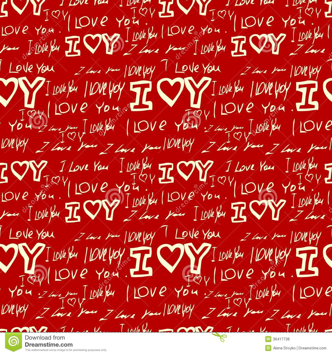 Words I Love You On Red Background Stock Vector - Illustration of abstract, holiday: 36417738
