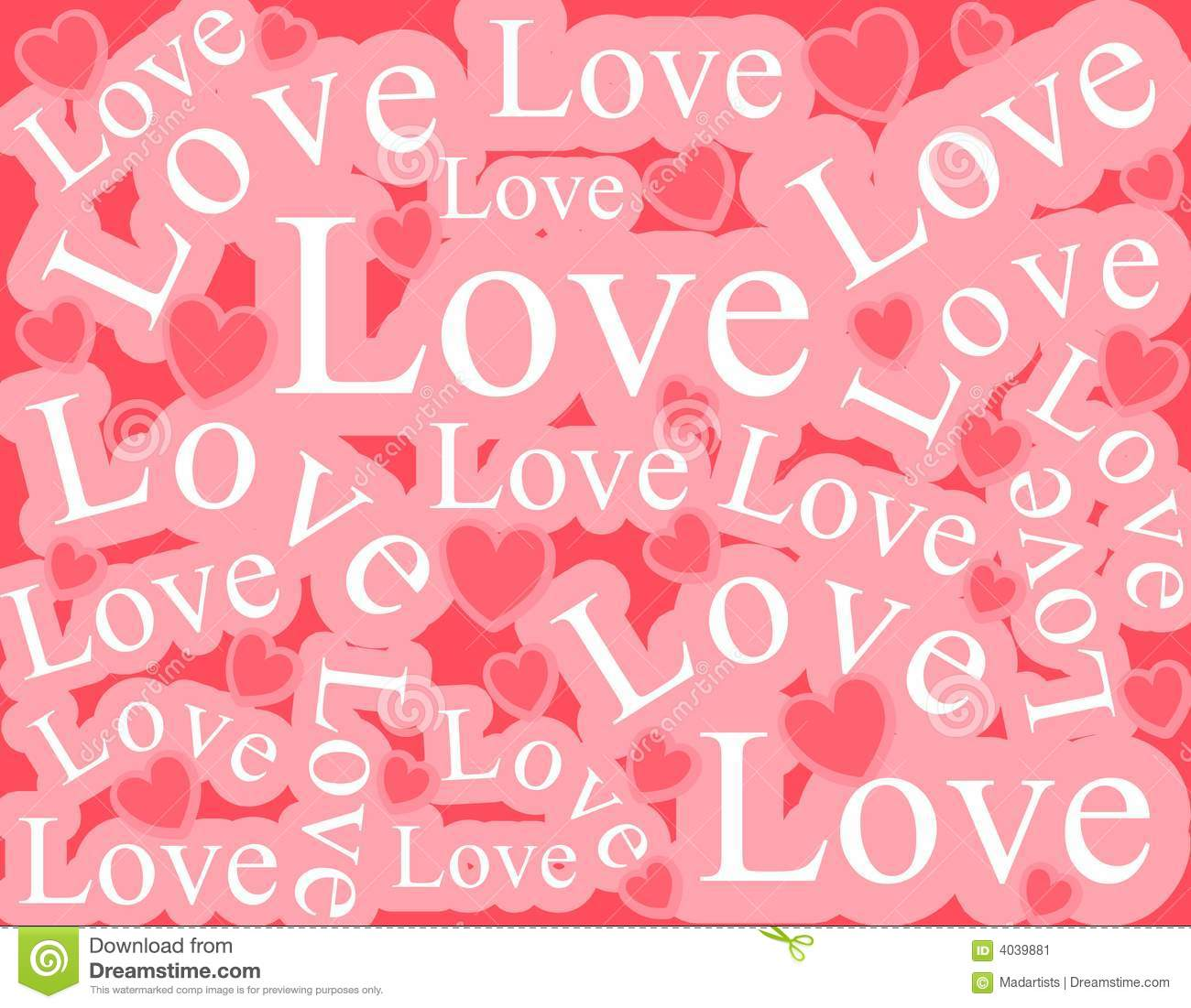 Words Of Love Background Pattern Stock Image - Image: 4039881
