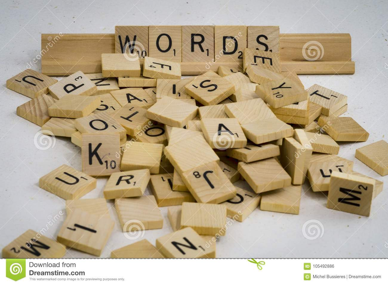 Words Are Made Of Letters Stock Photo Image Of Bunch 105492886