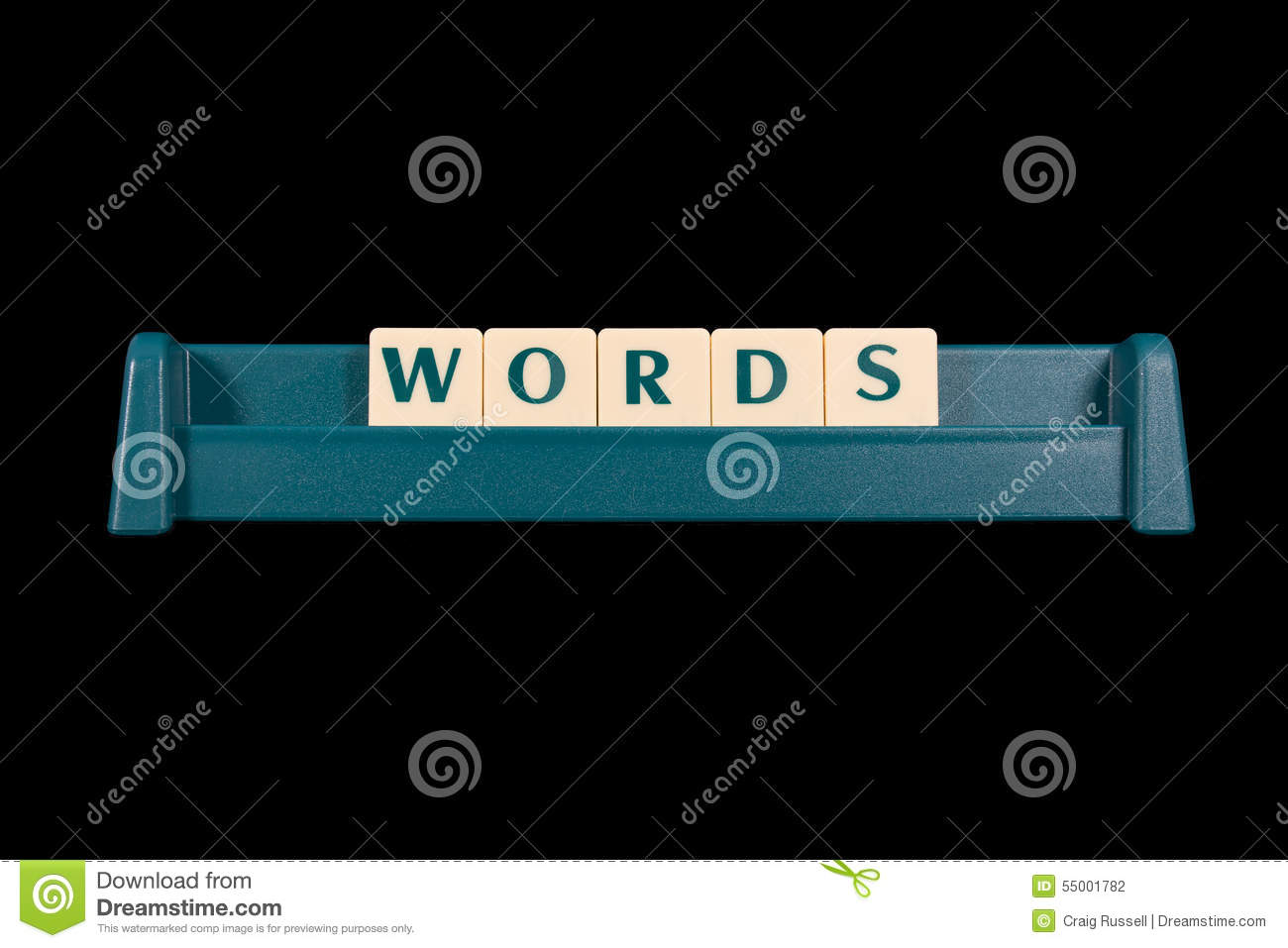 Word WORDS made from game piece letters 5SW7hkwo